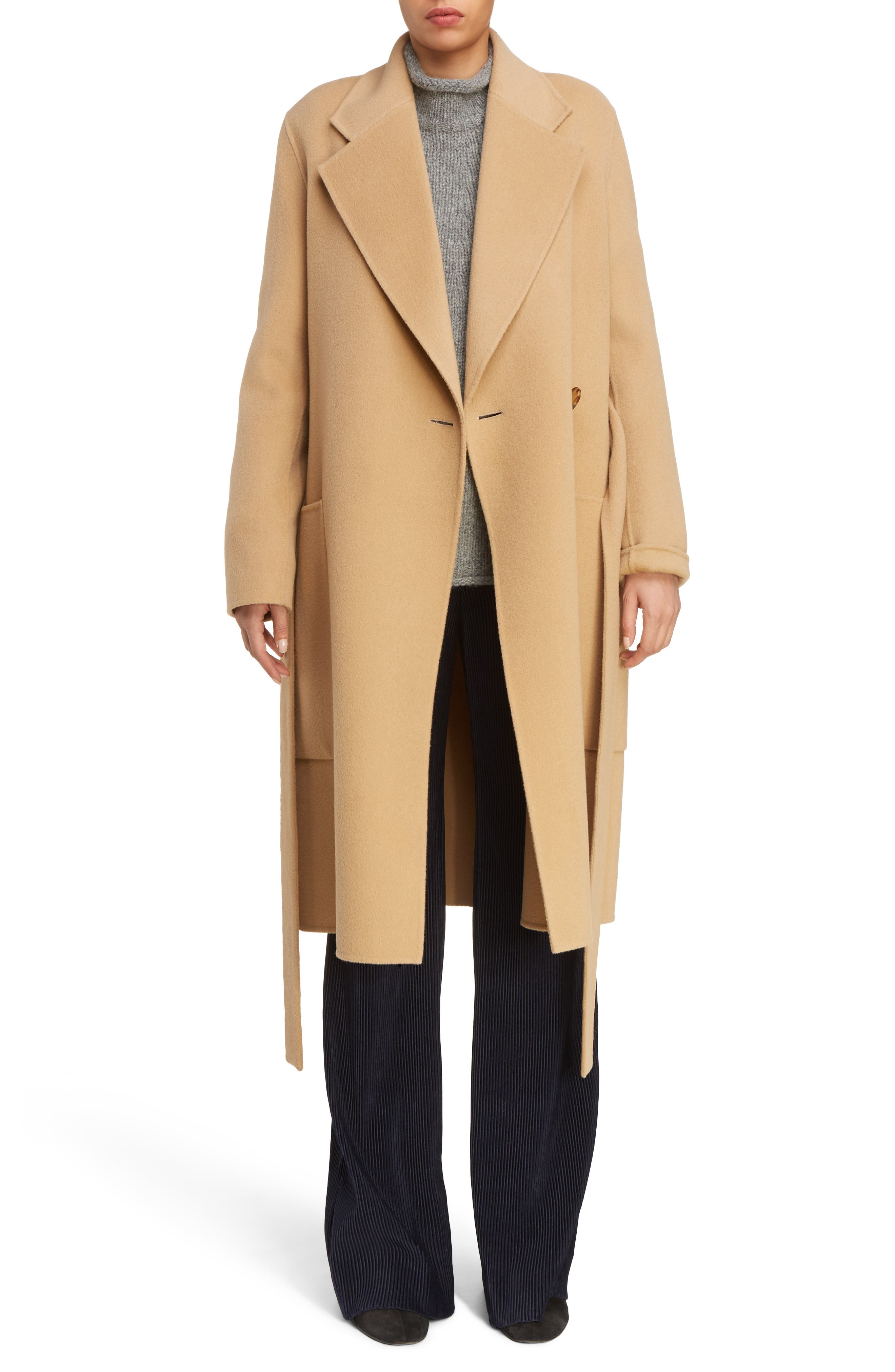 Carice Double Breasted Coat,                         Main,                         color, Camel