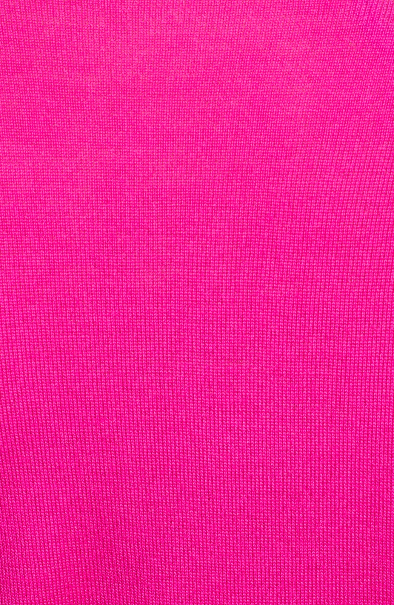 Plunging V-Neck Merino Wool Sweater,                             Alternate thumbnail 3, color,                             Electric Pink