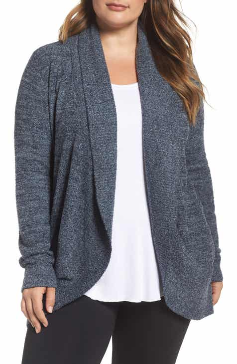Barefoot Dreams® CozyChic Lite® Circle Cardigan (Plus Size) by BAREFOOT DREAMS
