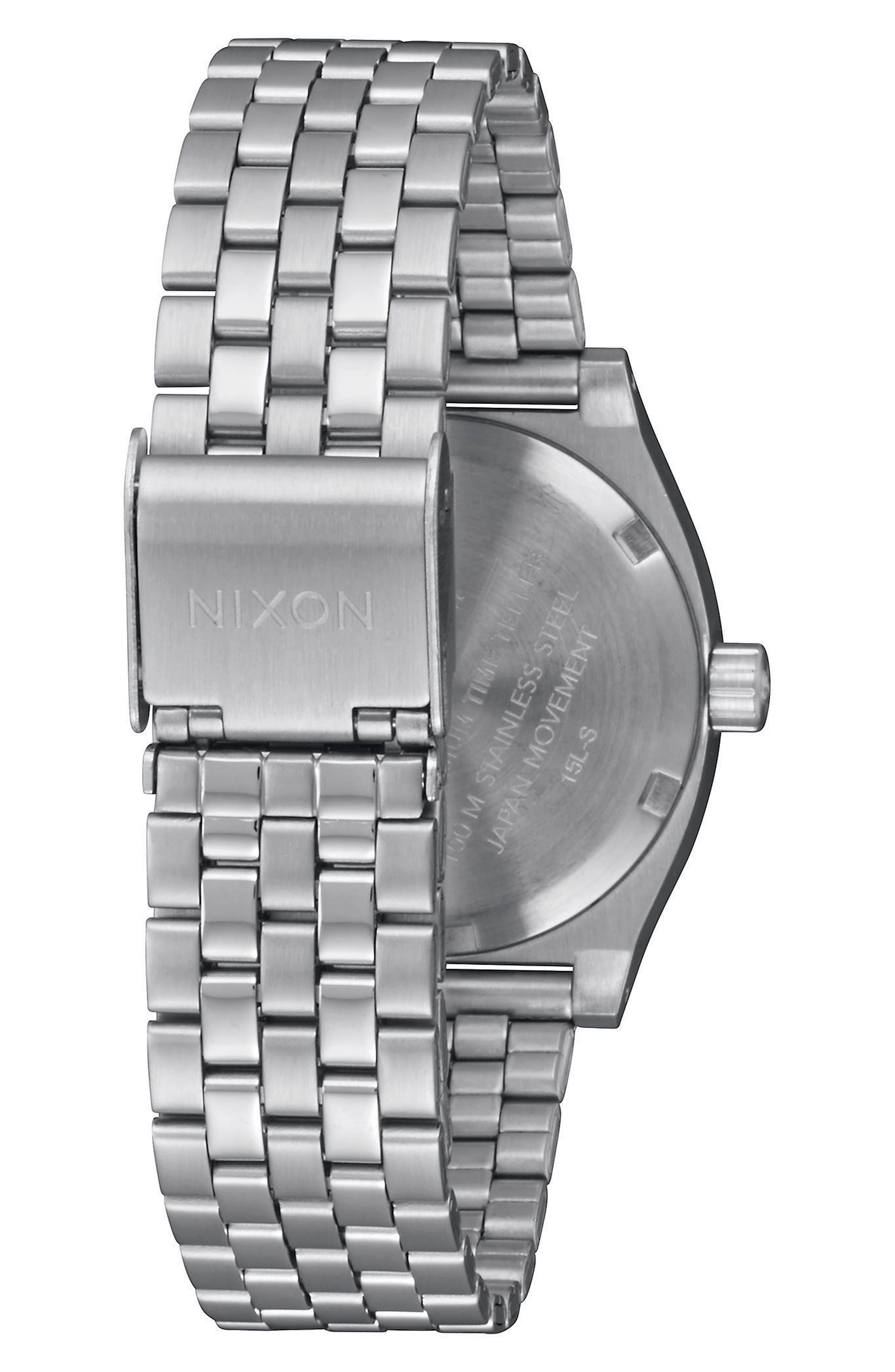 Time Teller Bracelet Watch, 31mm,                             Alternate thumbnail 2, color,                             Silver/ Navy/ Silver