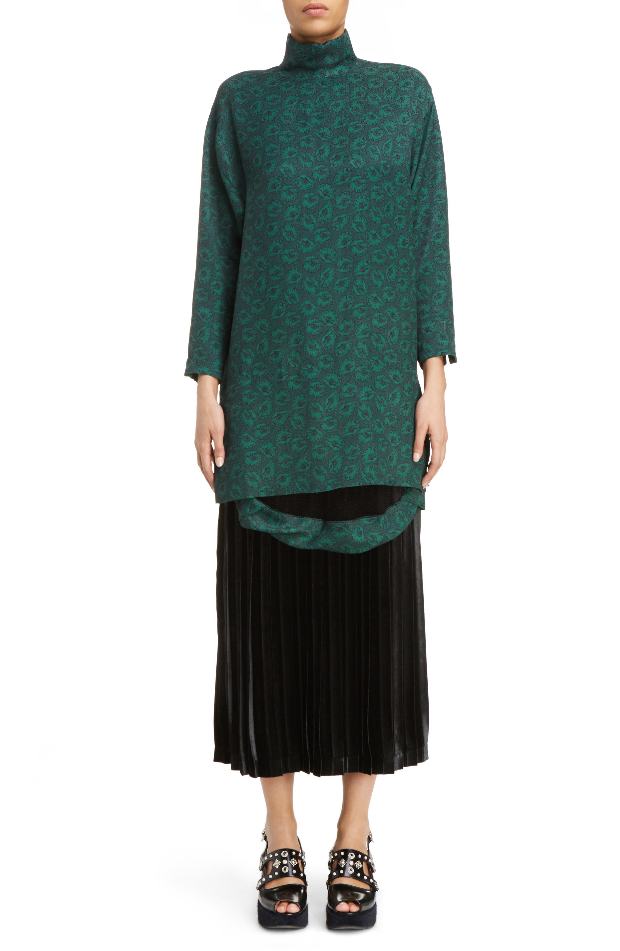 Alternate Image 6  - Toga Velvet Skirt Tank Dress
