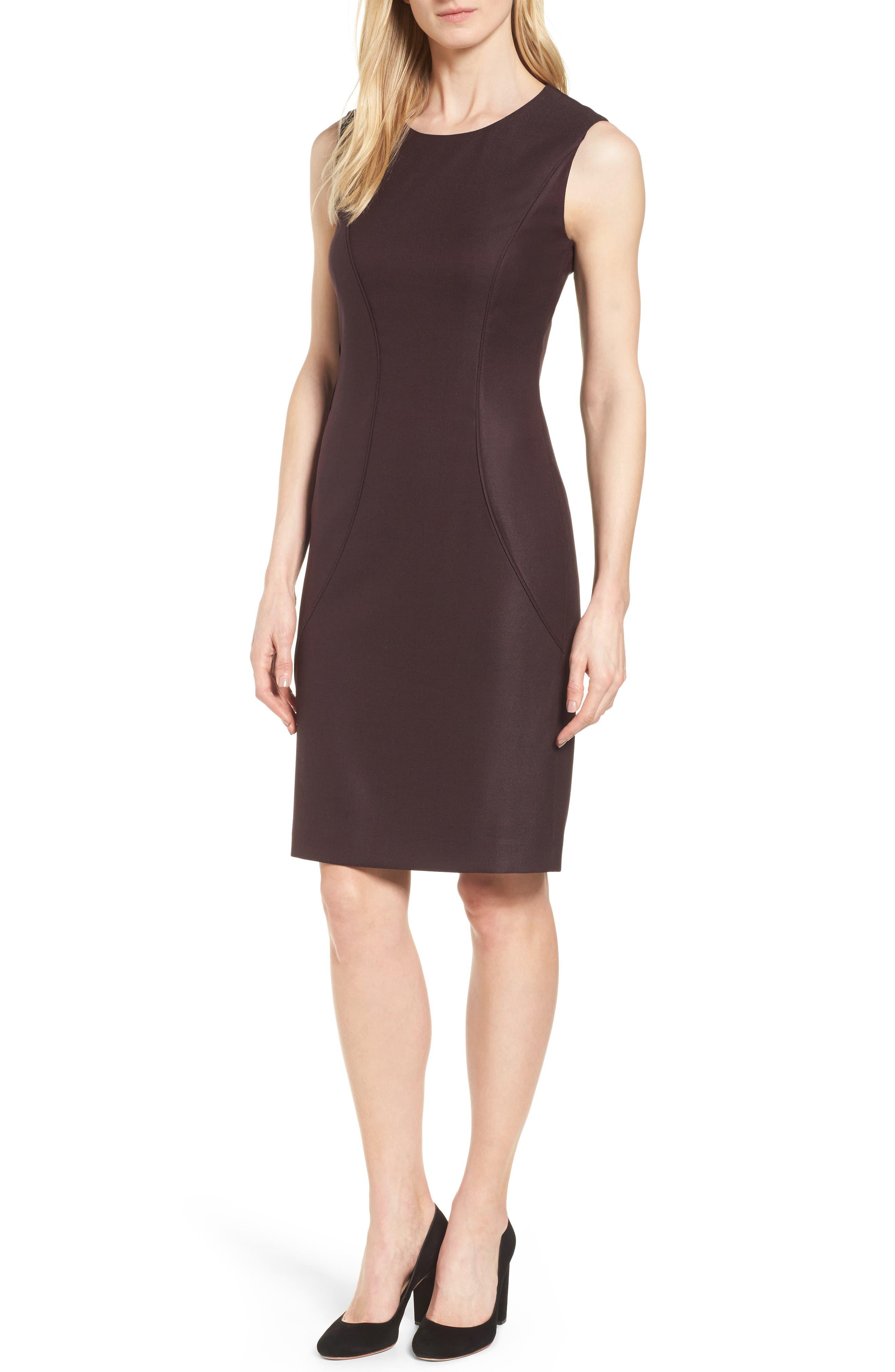 Alternate Image 1 Selected - BOSS Denesa Sheath Dress