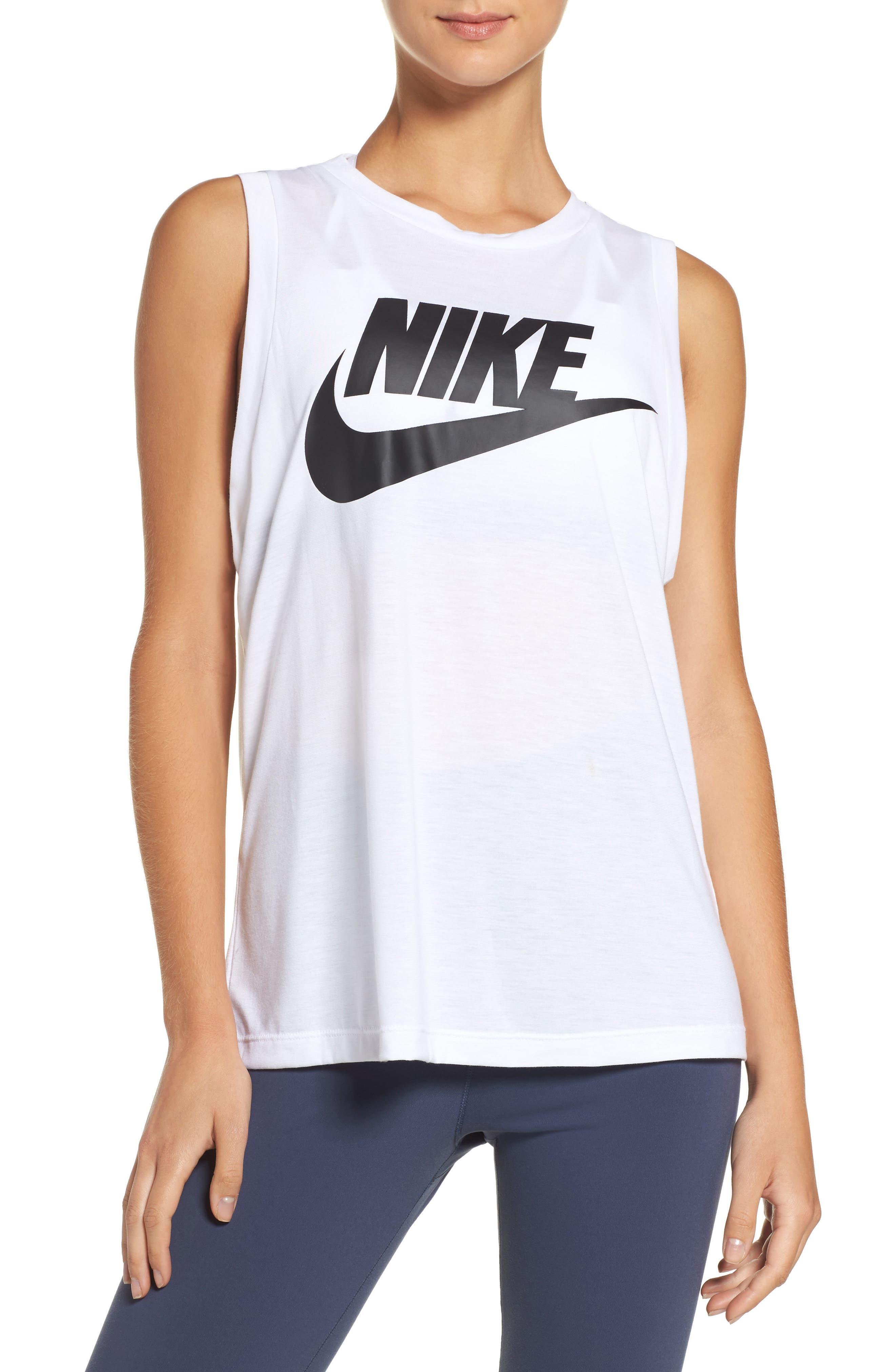 Main Image - Nike Sportswear Essential Muscle Tank