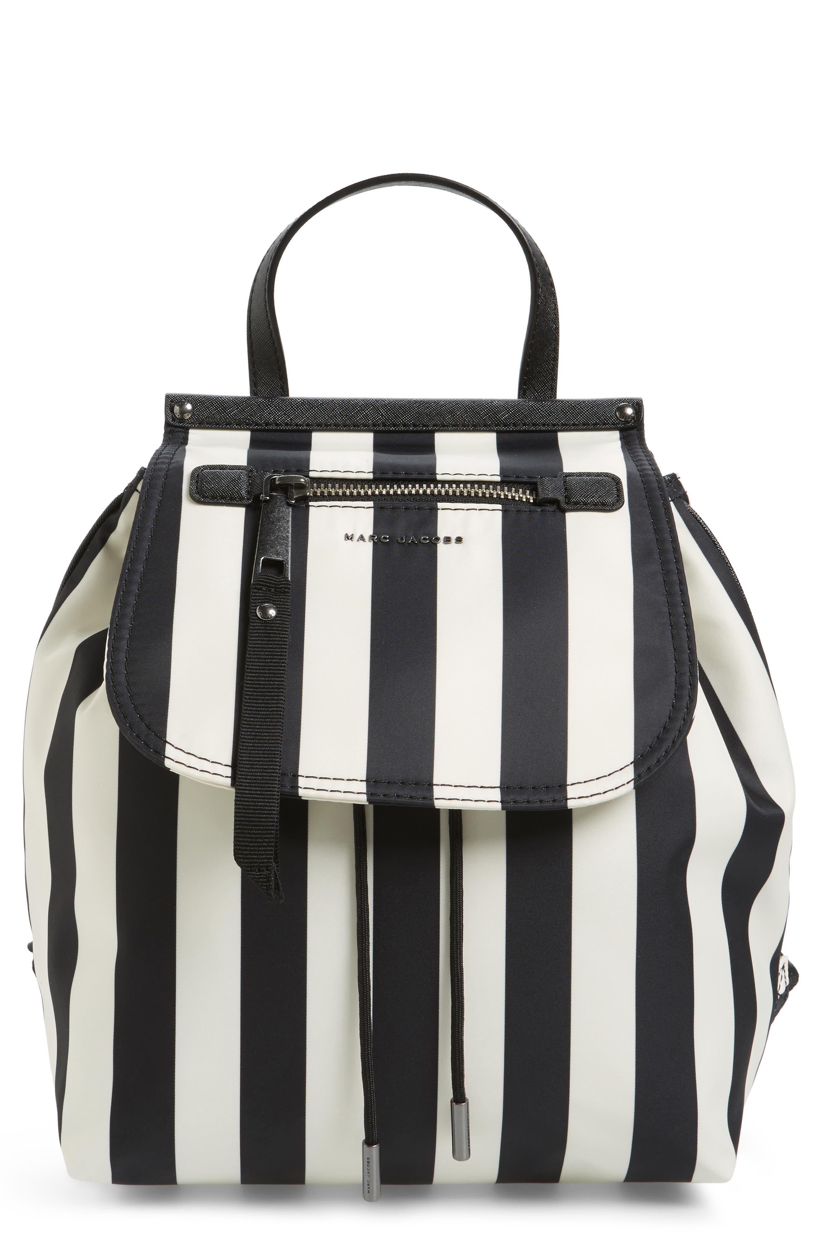 MARC JACOBS Striped Trooper Nylon Backpack