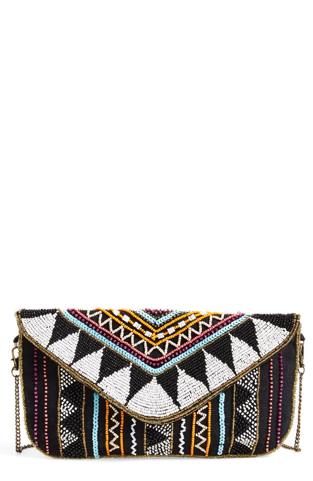 Main Image - Street Level Beaded Crossbody Bag