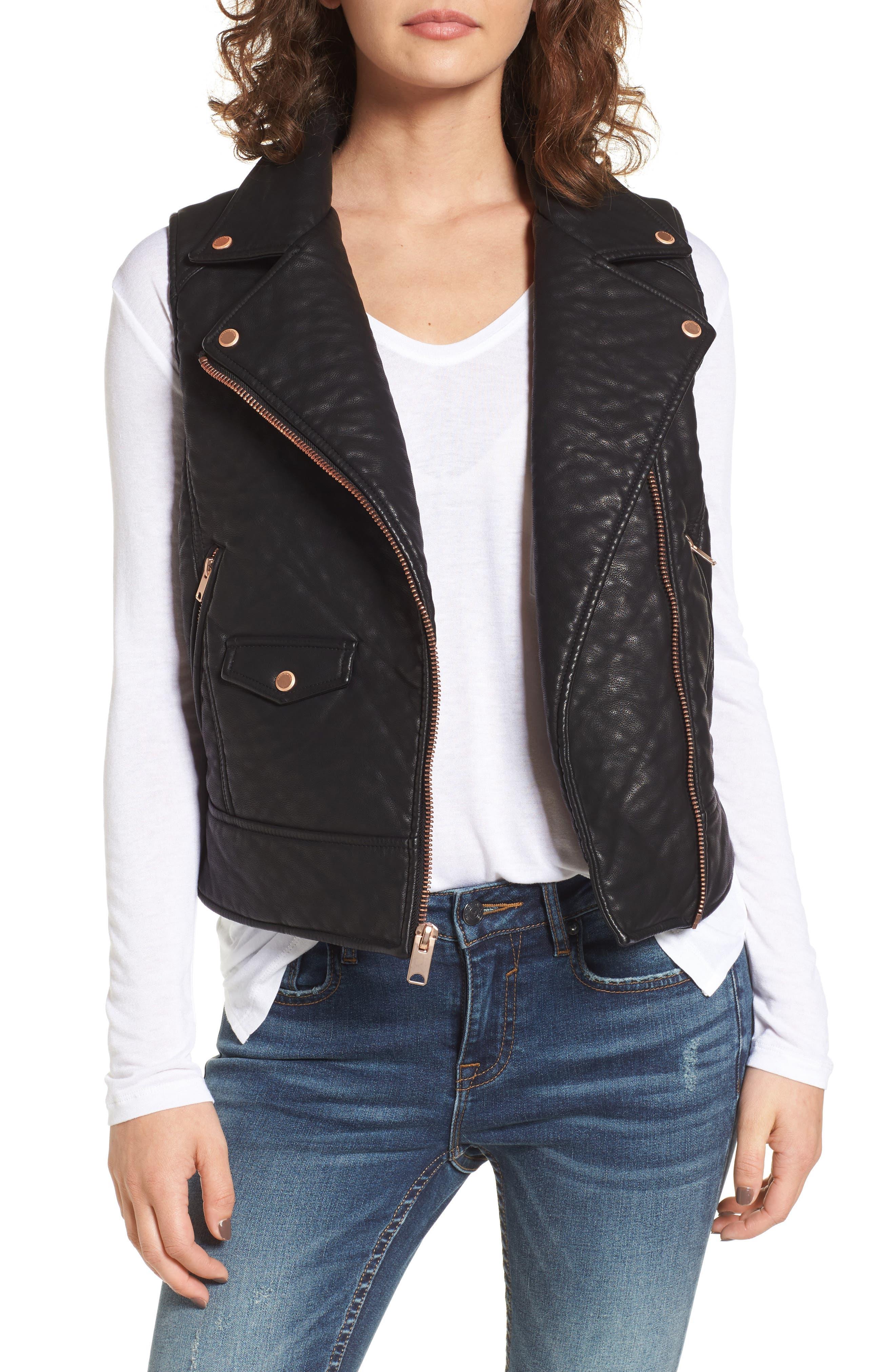 Andrew Marc Billie Faux Leather Vest