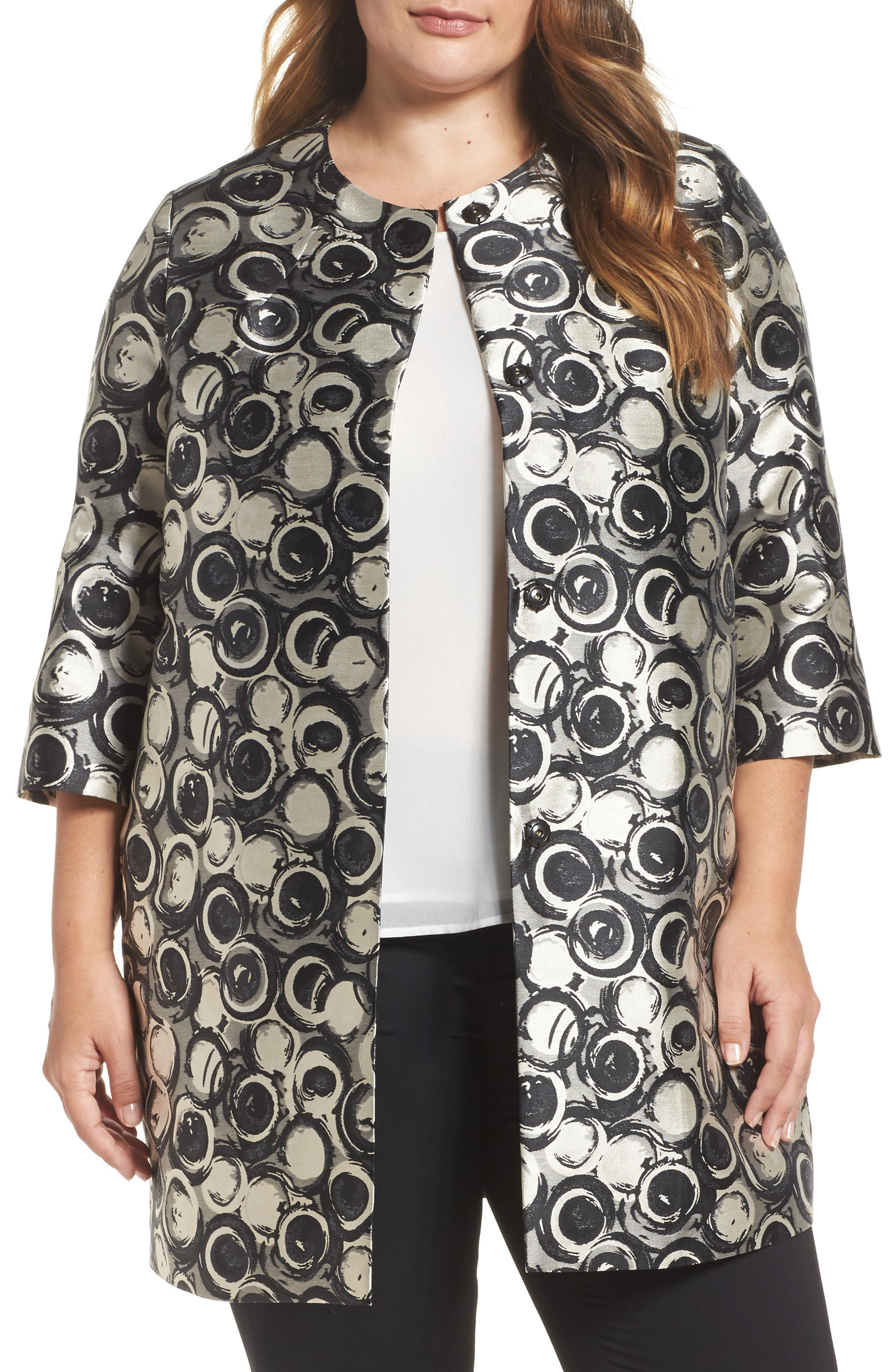 Noa Jacquard Jacket,                         Main,                         color, Black