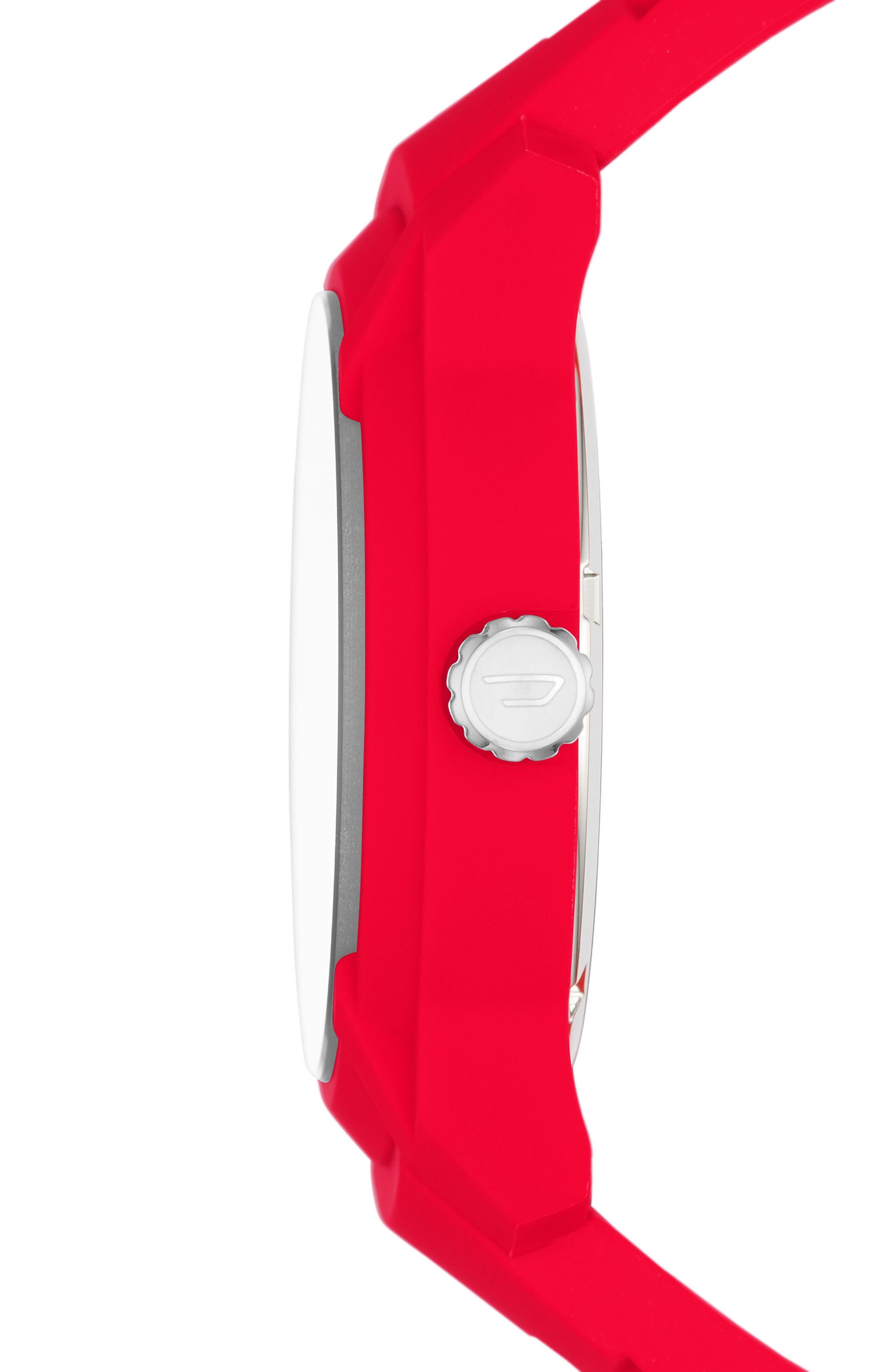 Alternate Image 2  - DIESEL® Armbar Silicone Strap Watch, 45mm
