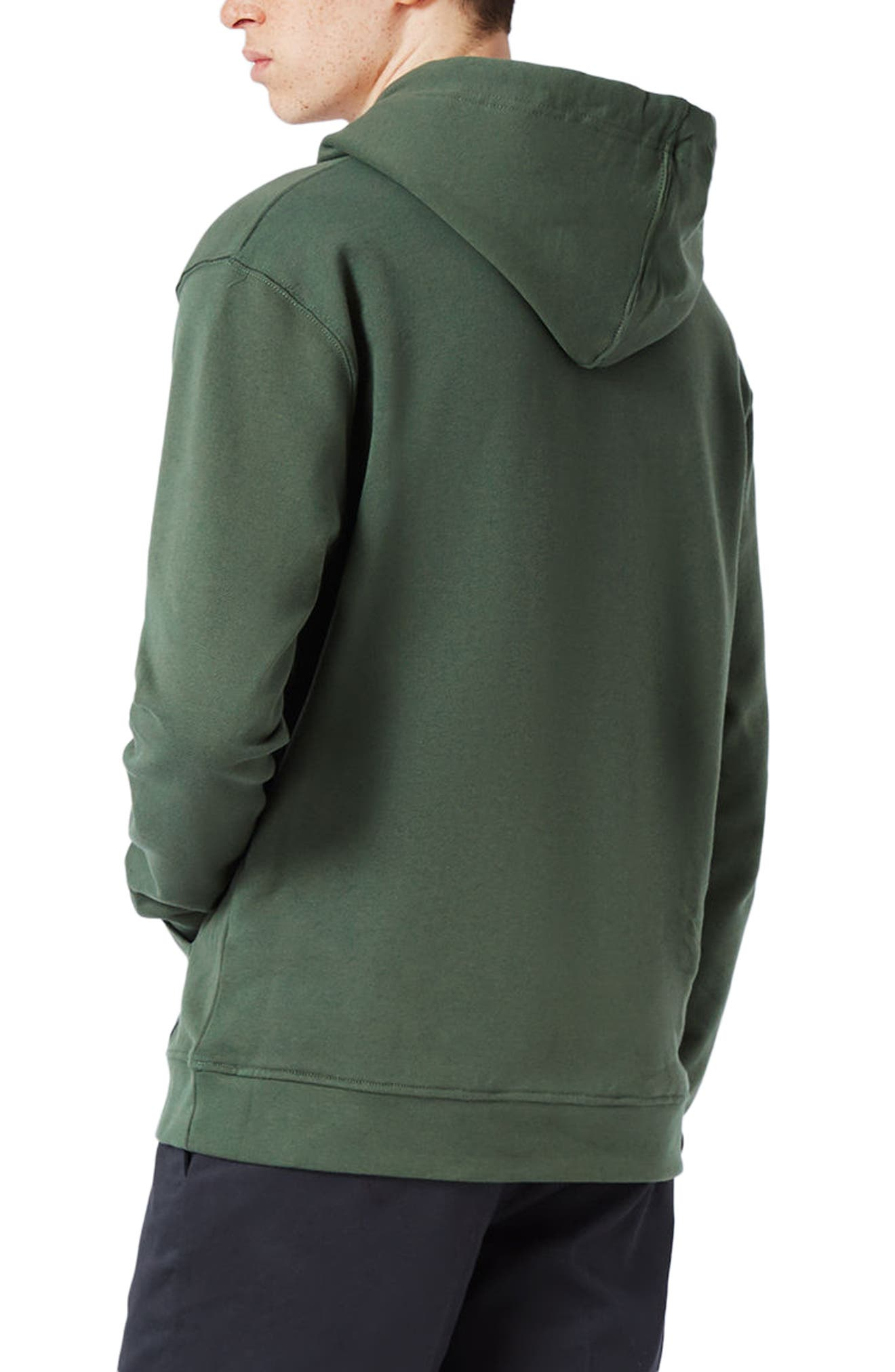 Classic Fit Hoodie,                             Alternate thumbnail 3, color,                             Olive