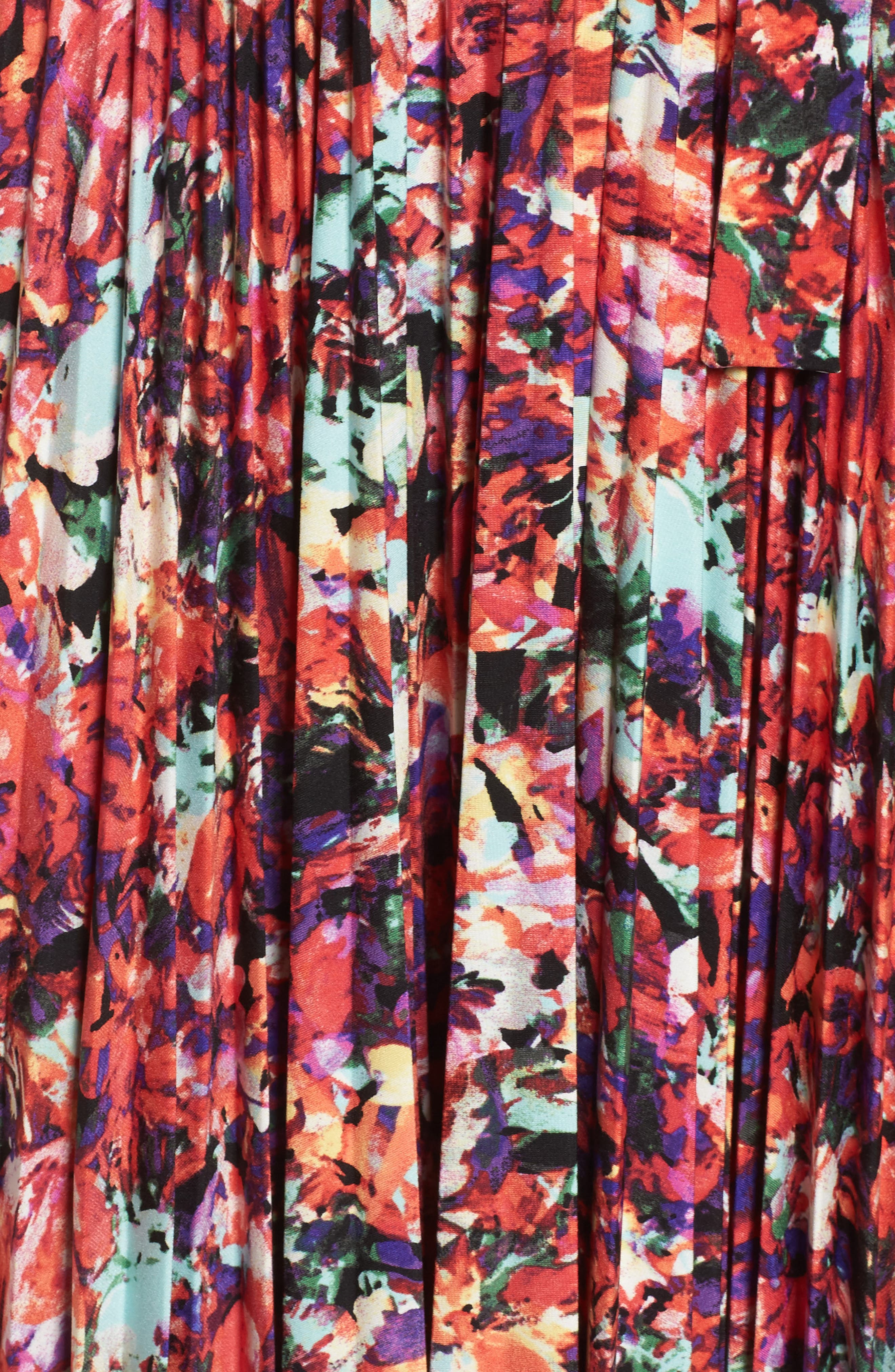 Alternate Image 6  - Maggy London Print Fit & Flare Dress (Regular & Petite)