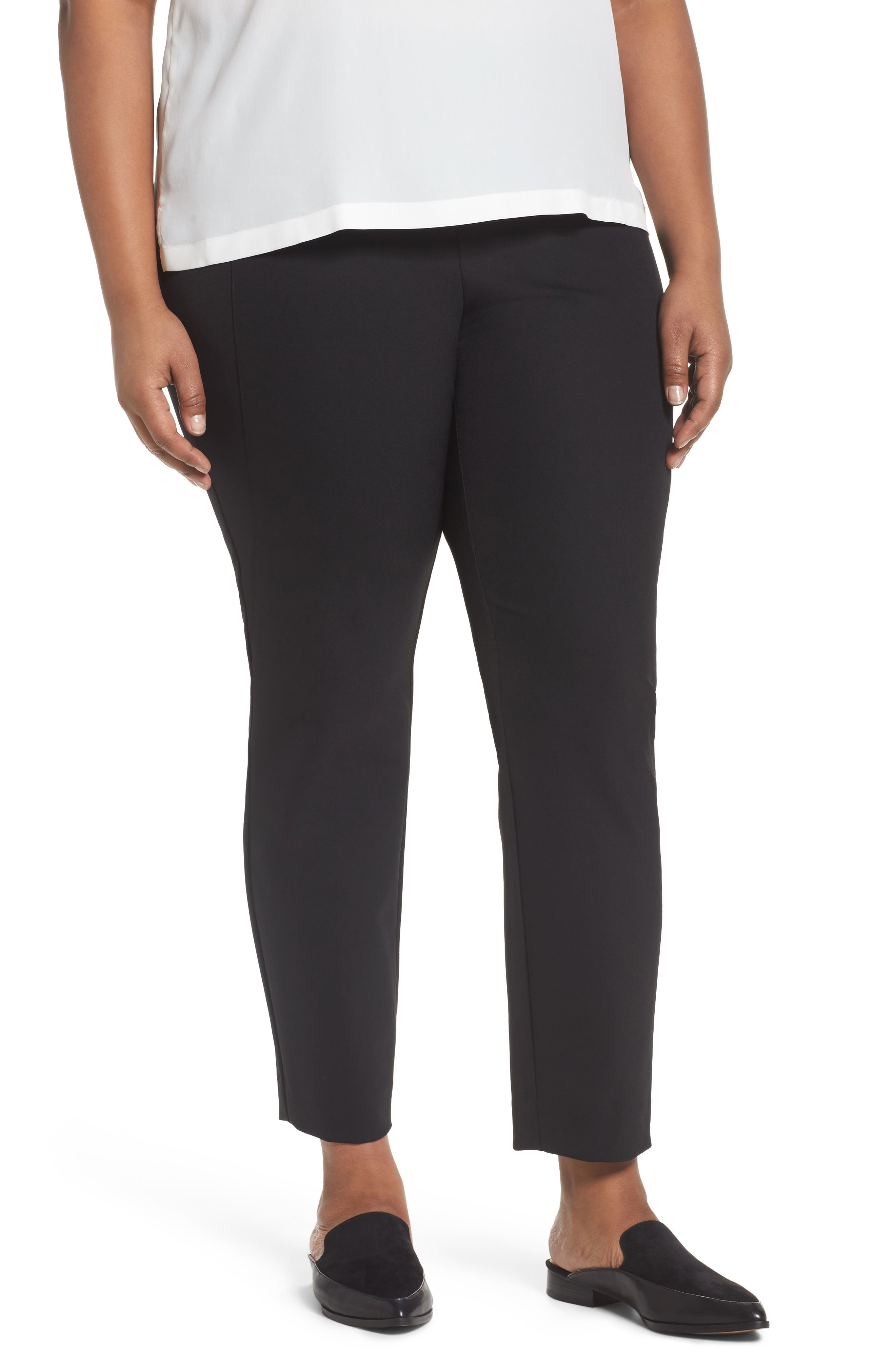 Lafayette 148 New York Gramercy Ankle Pants (Plus Size)