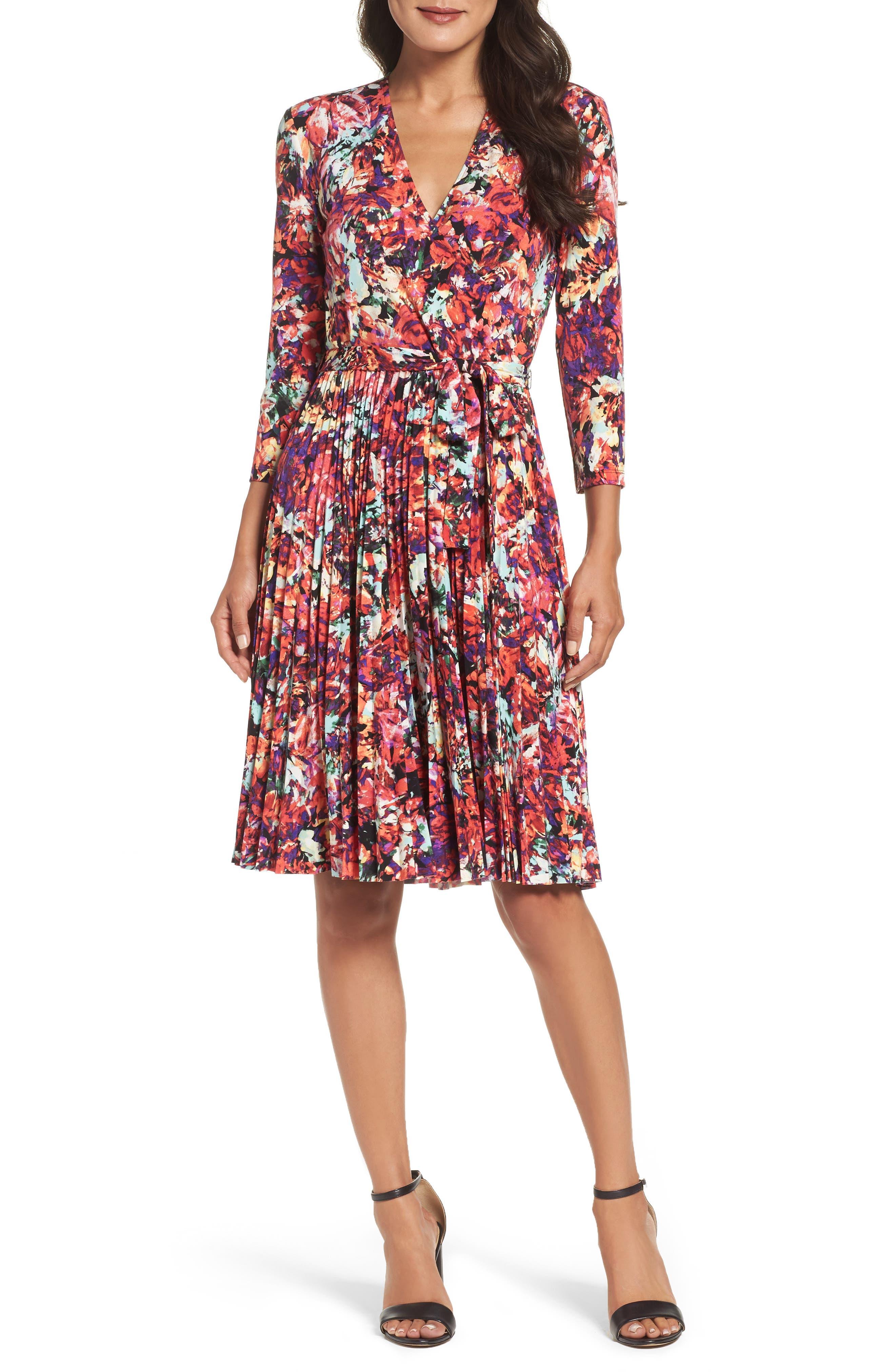 Alternate Image 4  - Maggy London Print Fit & Flare Dress (Regular & Petite)