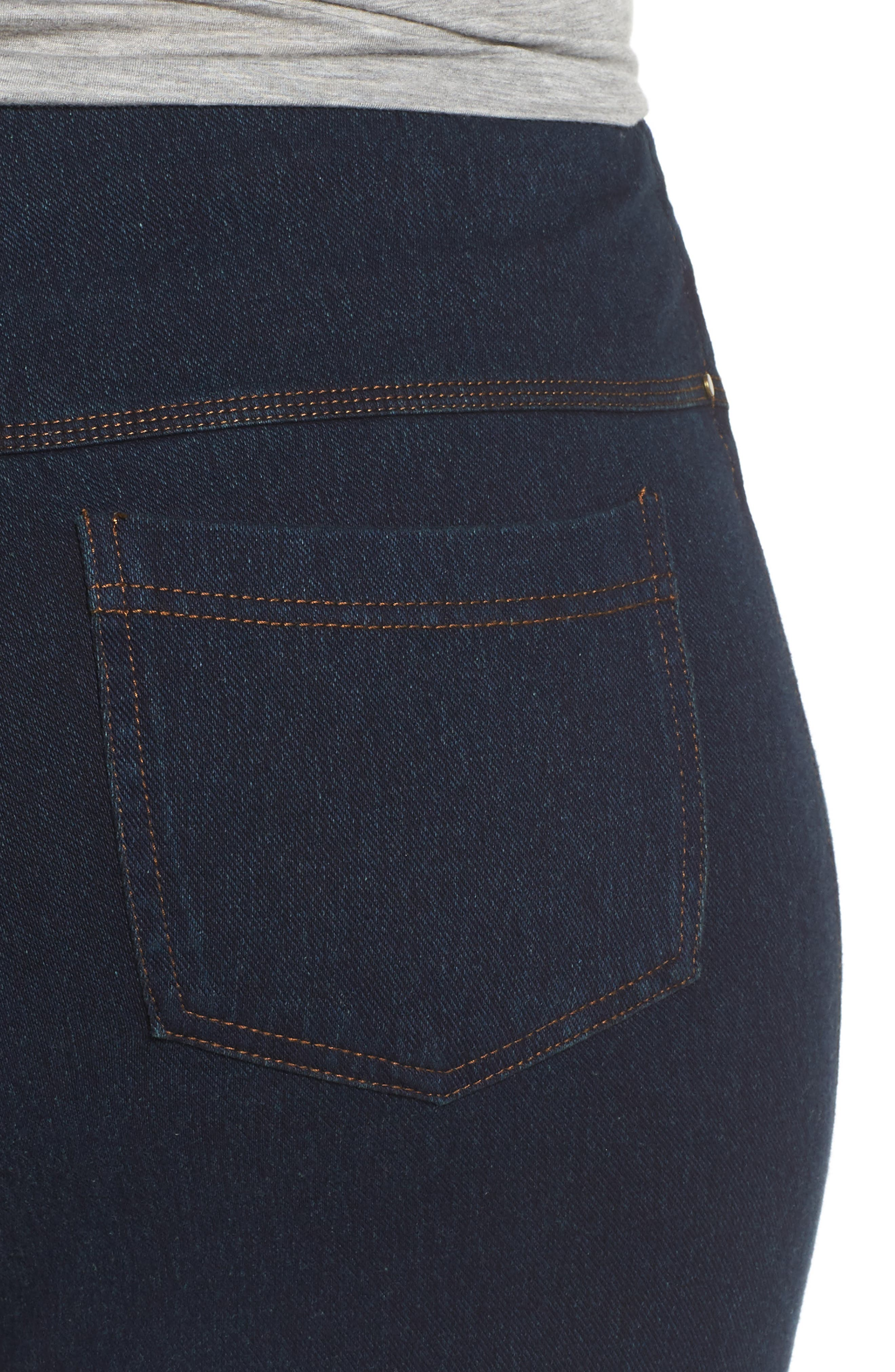 Alternate Image 4  - Lyssè Toothpick Denim Leggings (Plus Size)