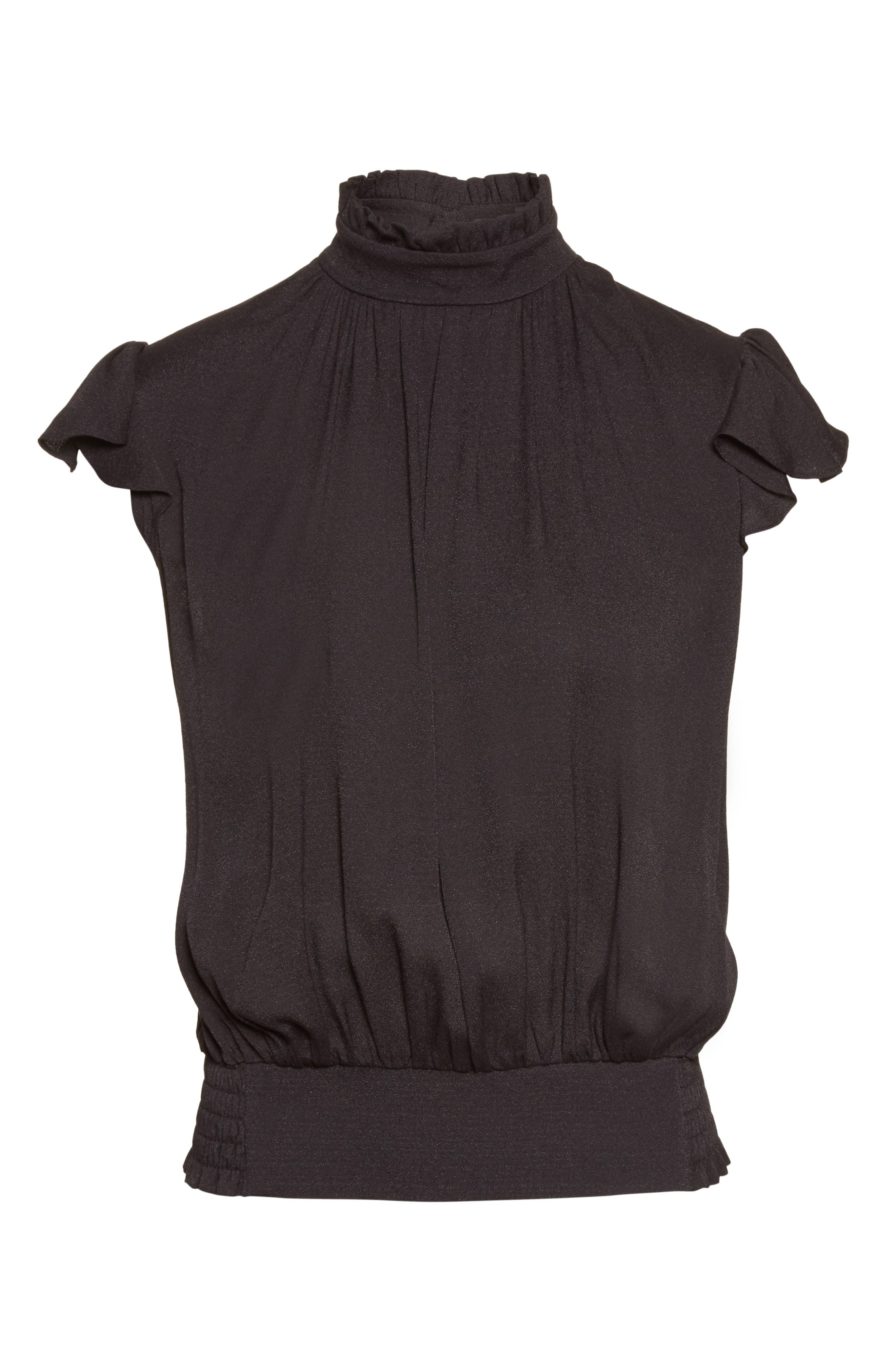 Alternate Image 7  - FRAME Smocked Ruffle Blouse (Nordstrom Exclusive)