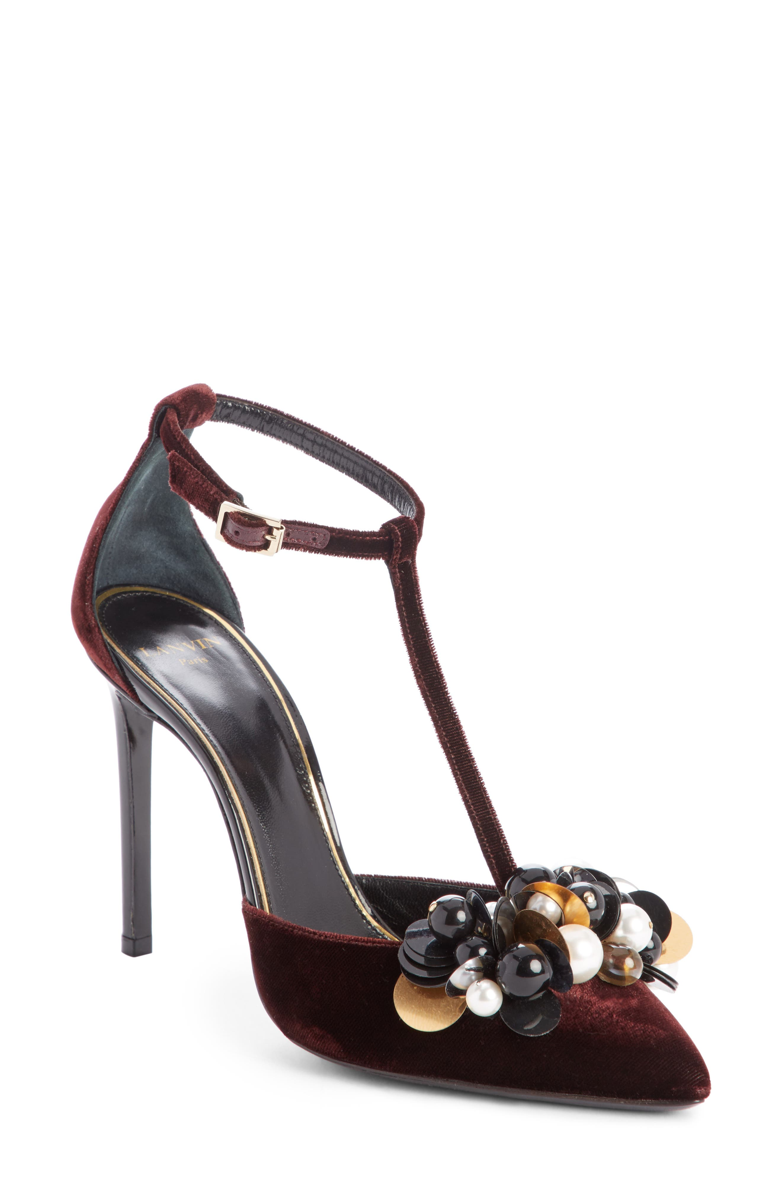 Alternate Image 1 Selected - Lanvin Pearl T-Strap Pump (Women)
