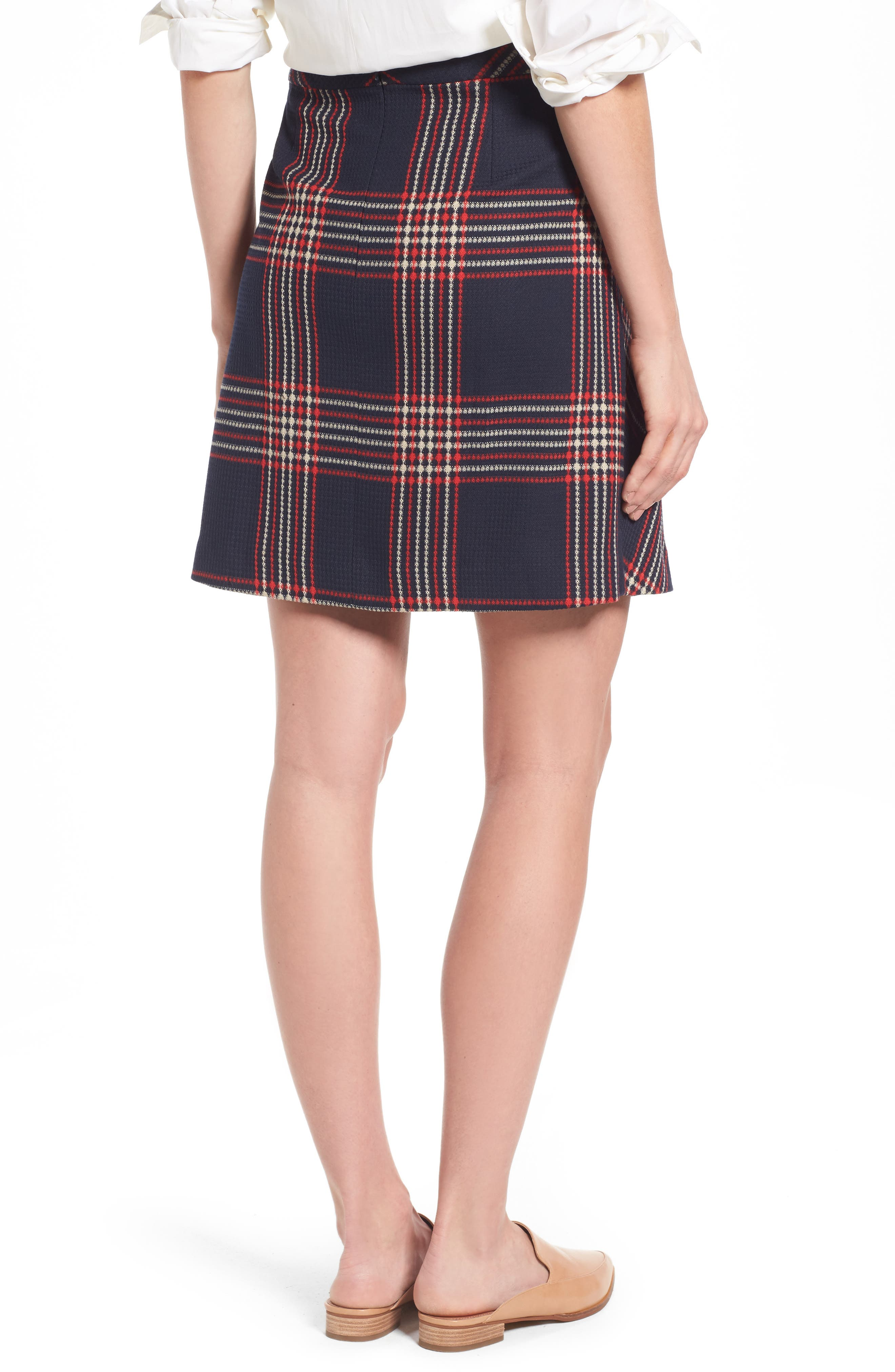 Alternate Image 3  - Halogen® Plaid Miniskirt (Regular & Petite)