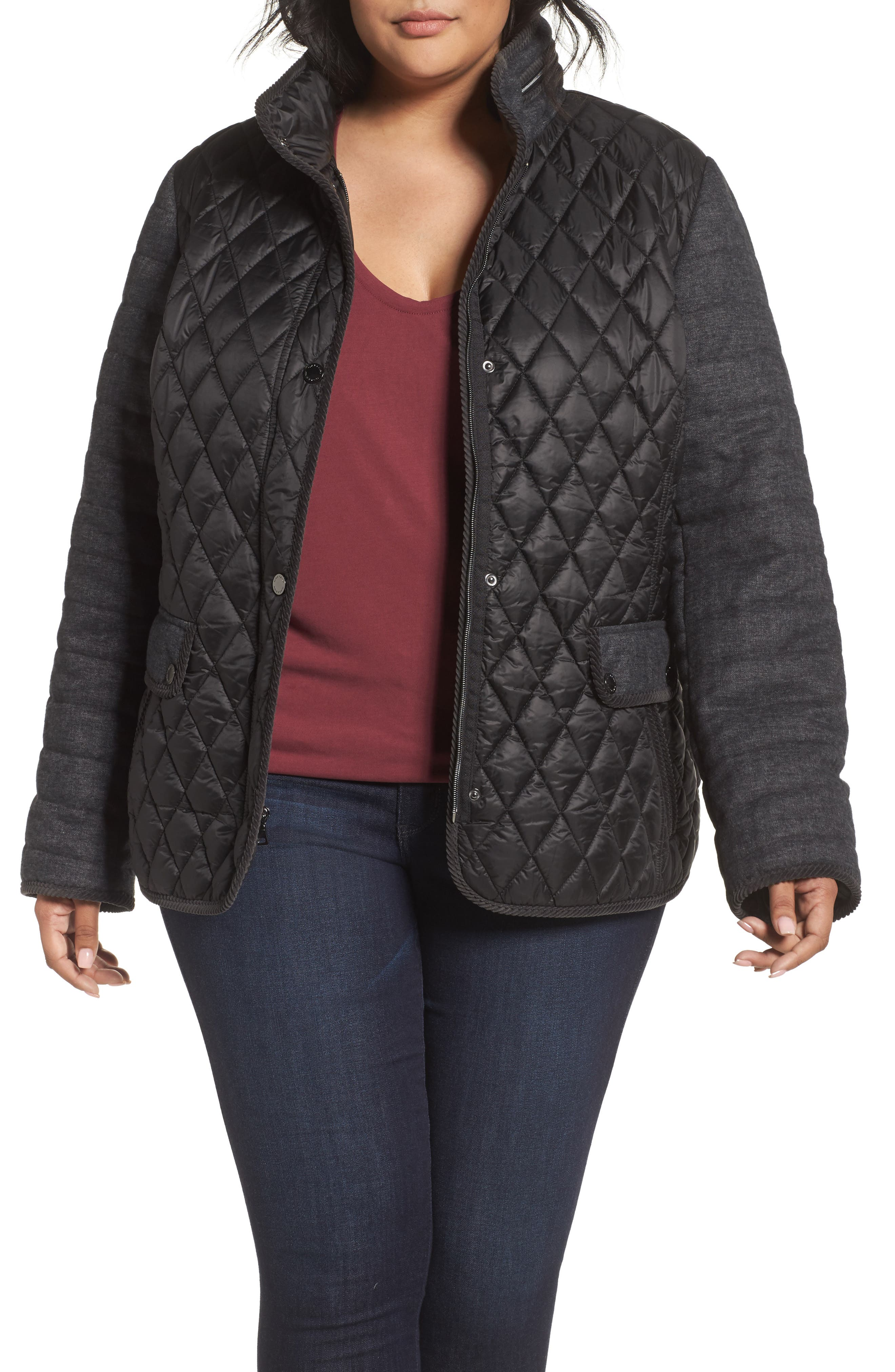 GALLERY Mixed Media Quilted Jacket