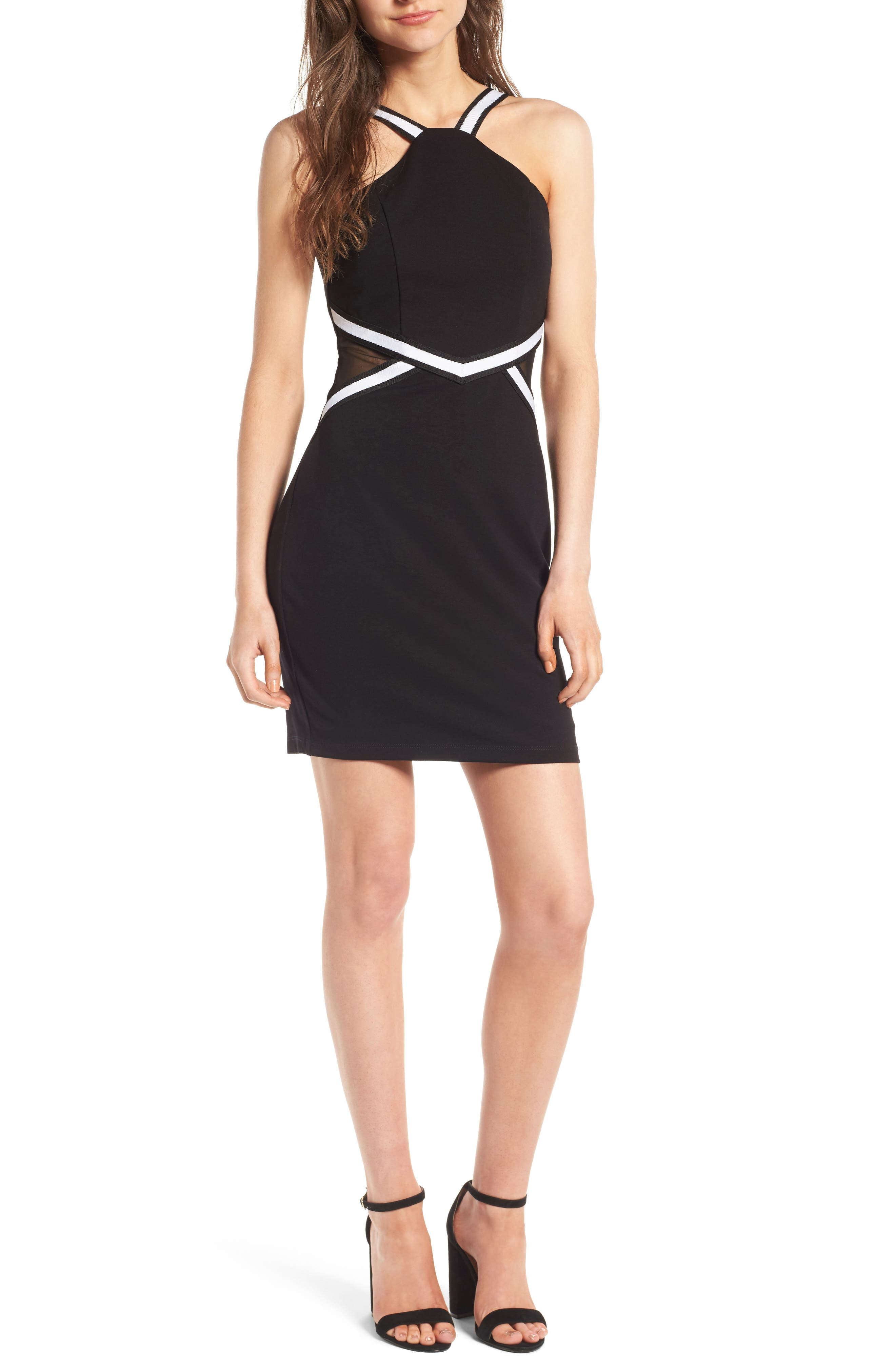 Love, Nickie Lew Athletic Stripe Body-Con Dress