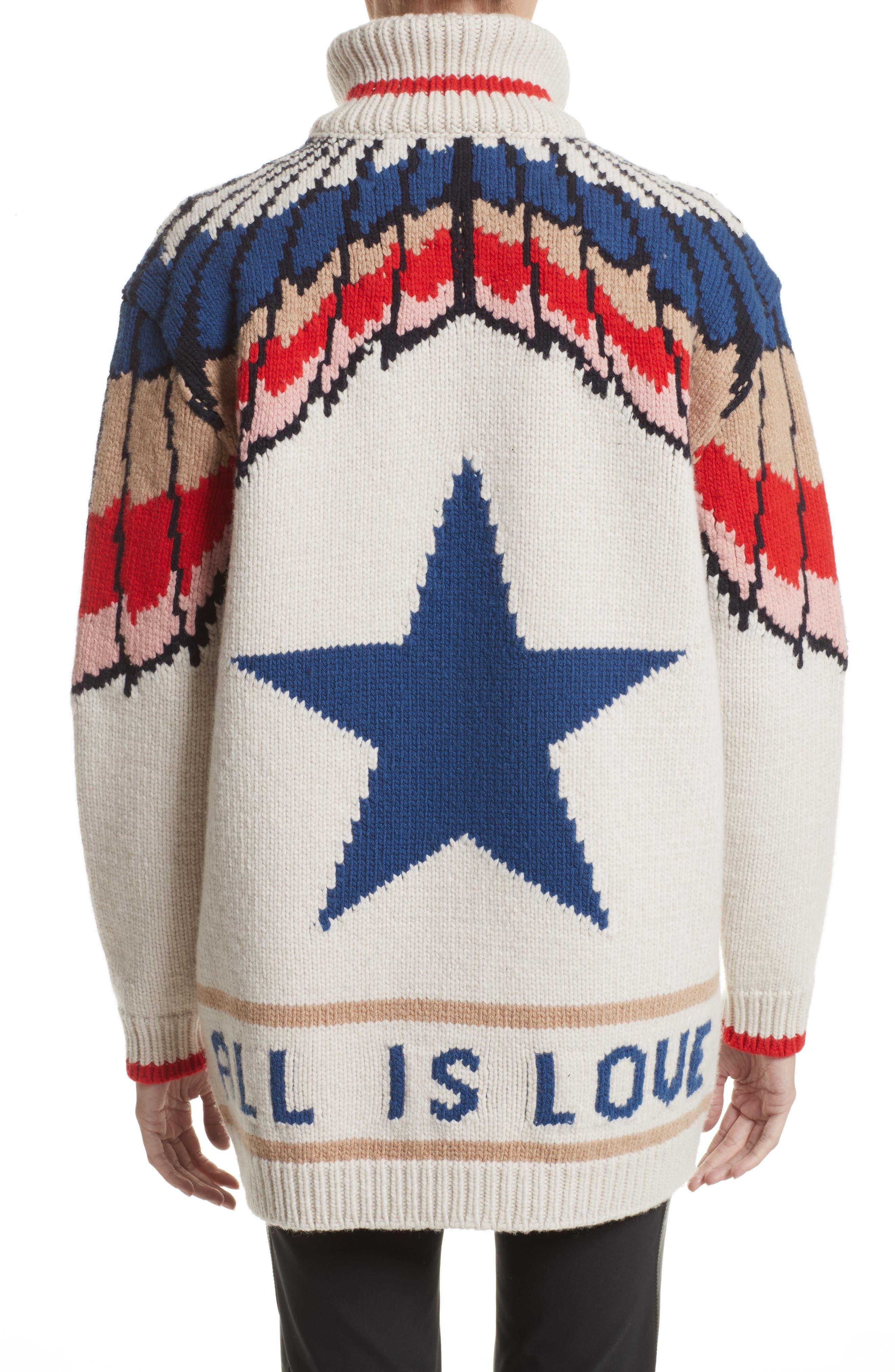 Alternate Image 2  - Stella McCartney Feather Print Wool Cardigan