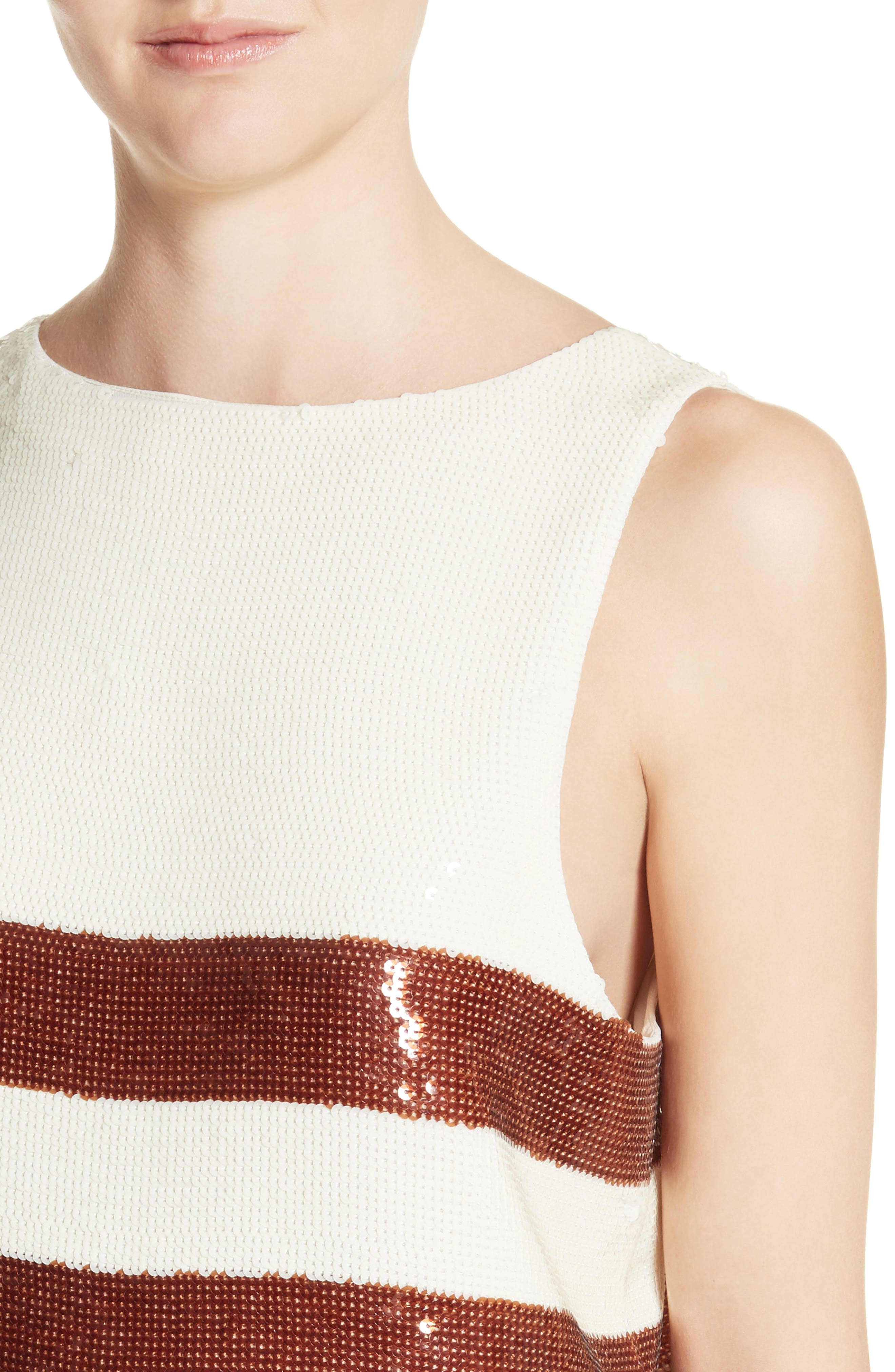Marigold Sequin Tank,                             Alternate thumbnail 5, color,                             Bronze/ Ivory