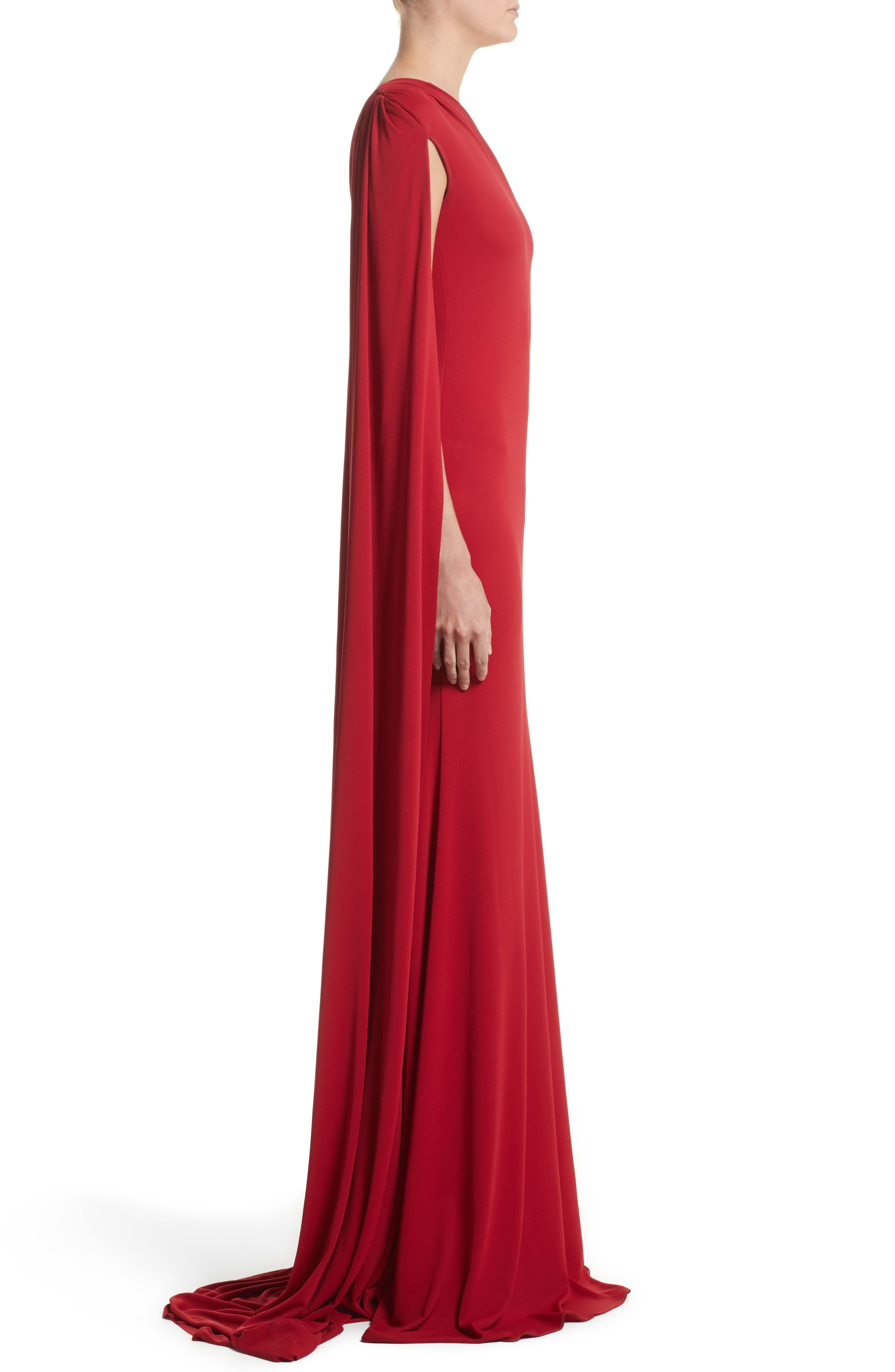 Alternate Image 3  - Naeem Khan One-Shoulder Stretch Jersey Gown