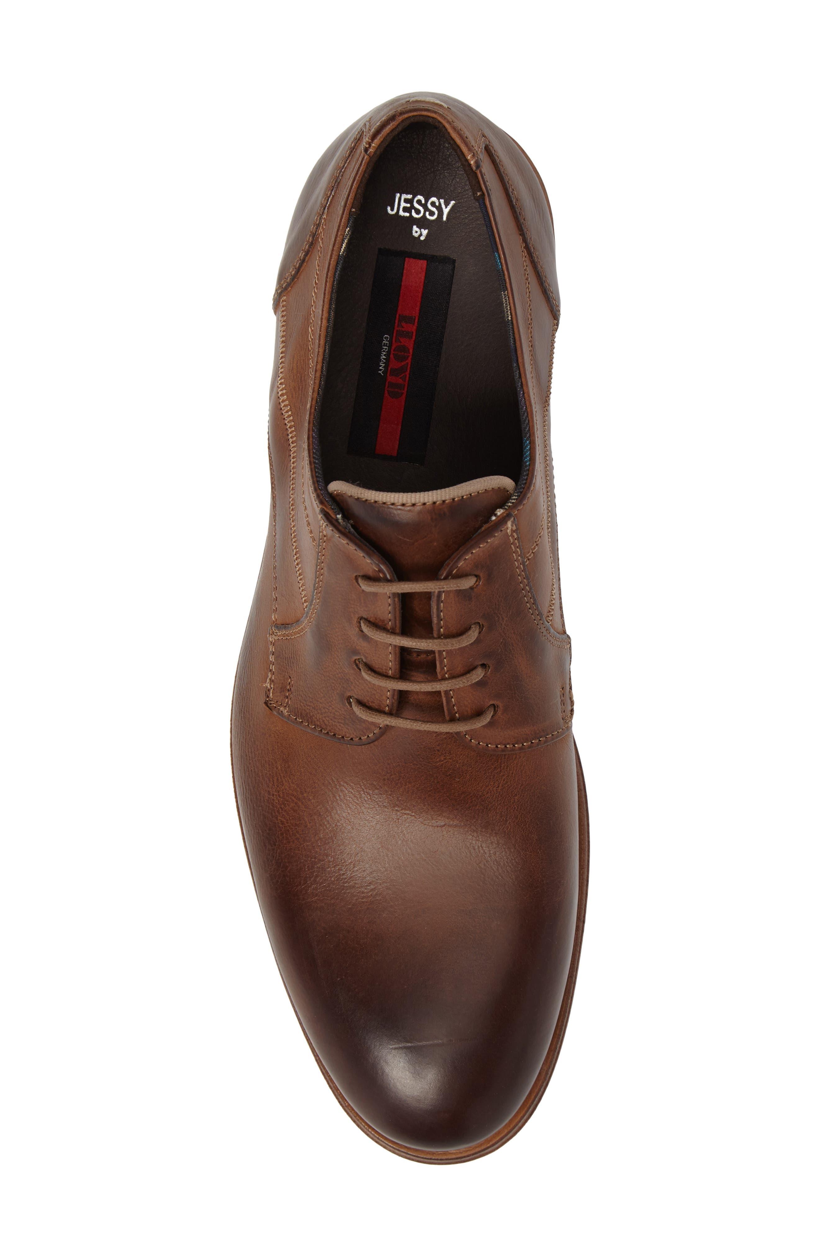 Jessy Plain-Toe Derby,                             Alternate thumbnail 5, color,                             Kenia Leather
