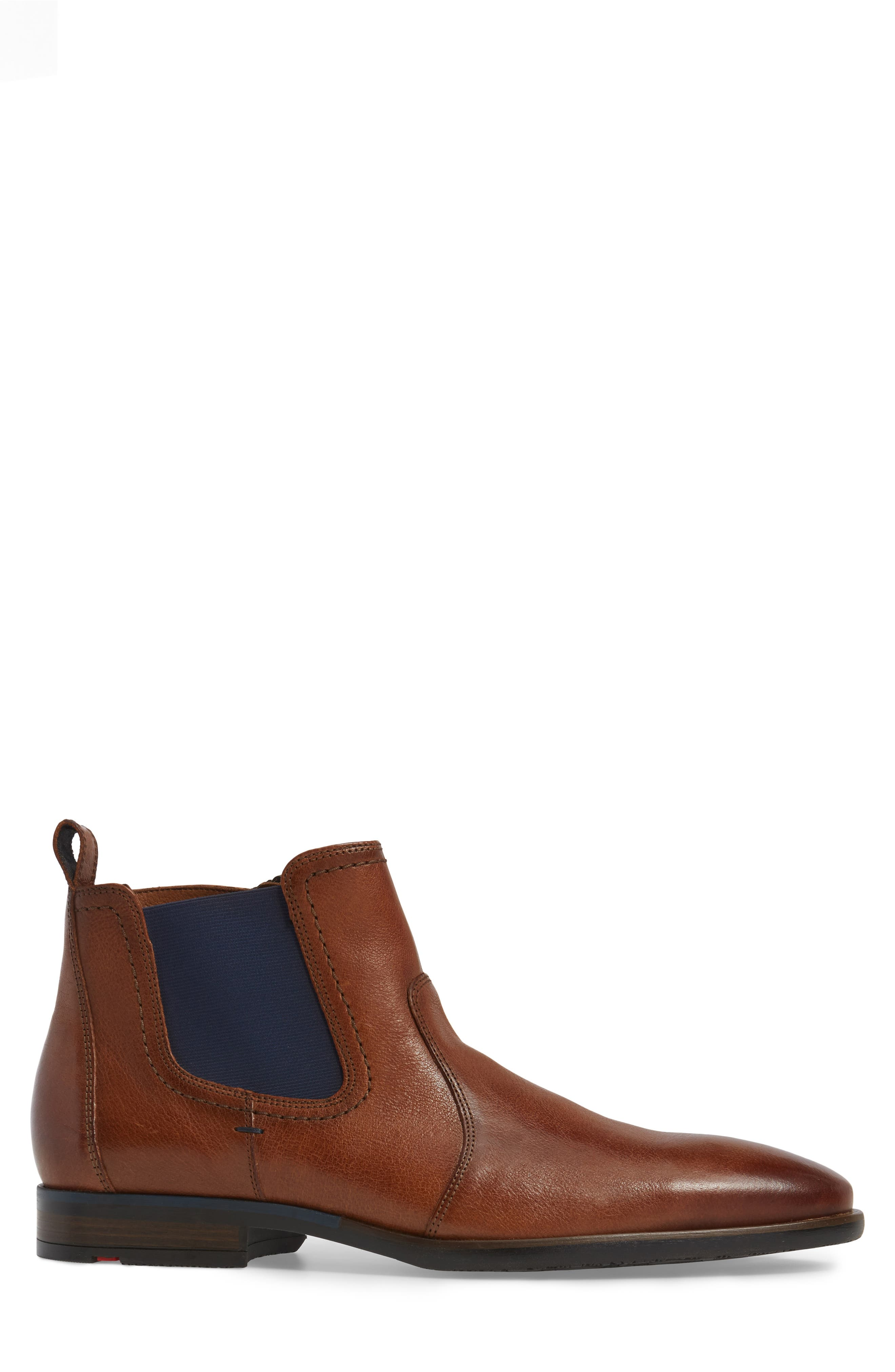Dylan Chelsea Boot,                             Alternate thumbnail 3, color,                             Brown Leather