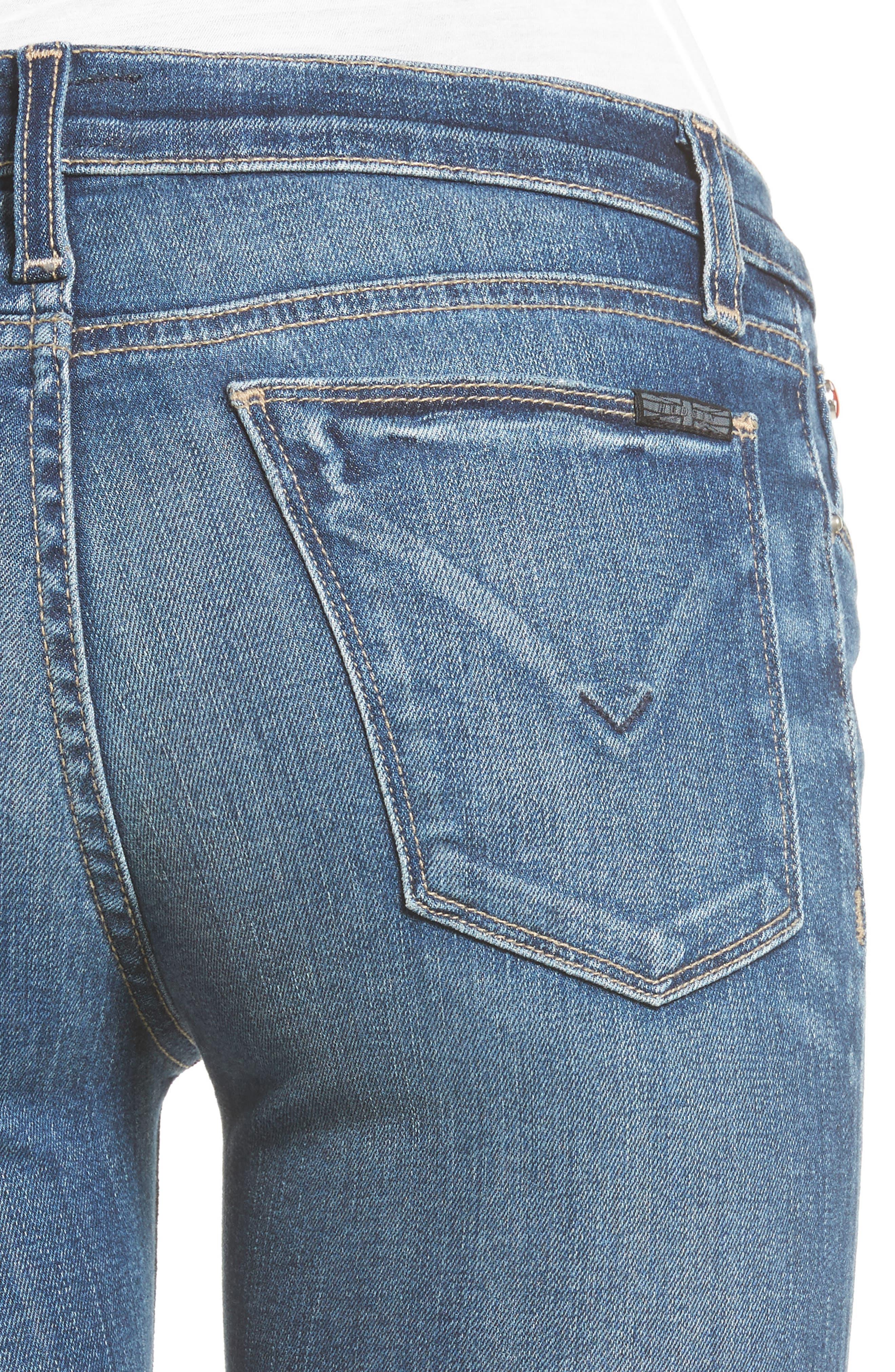 Alternate Image 4  - Hudson Jeans 'Krista' Super Skinny Jeans (Solo)