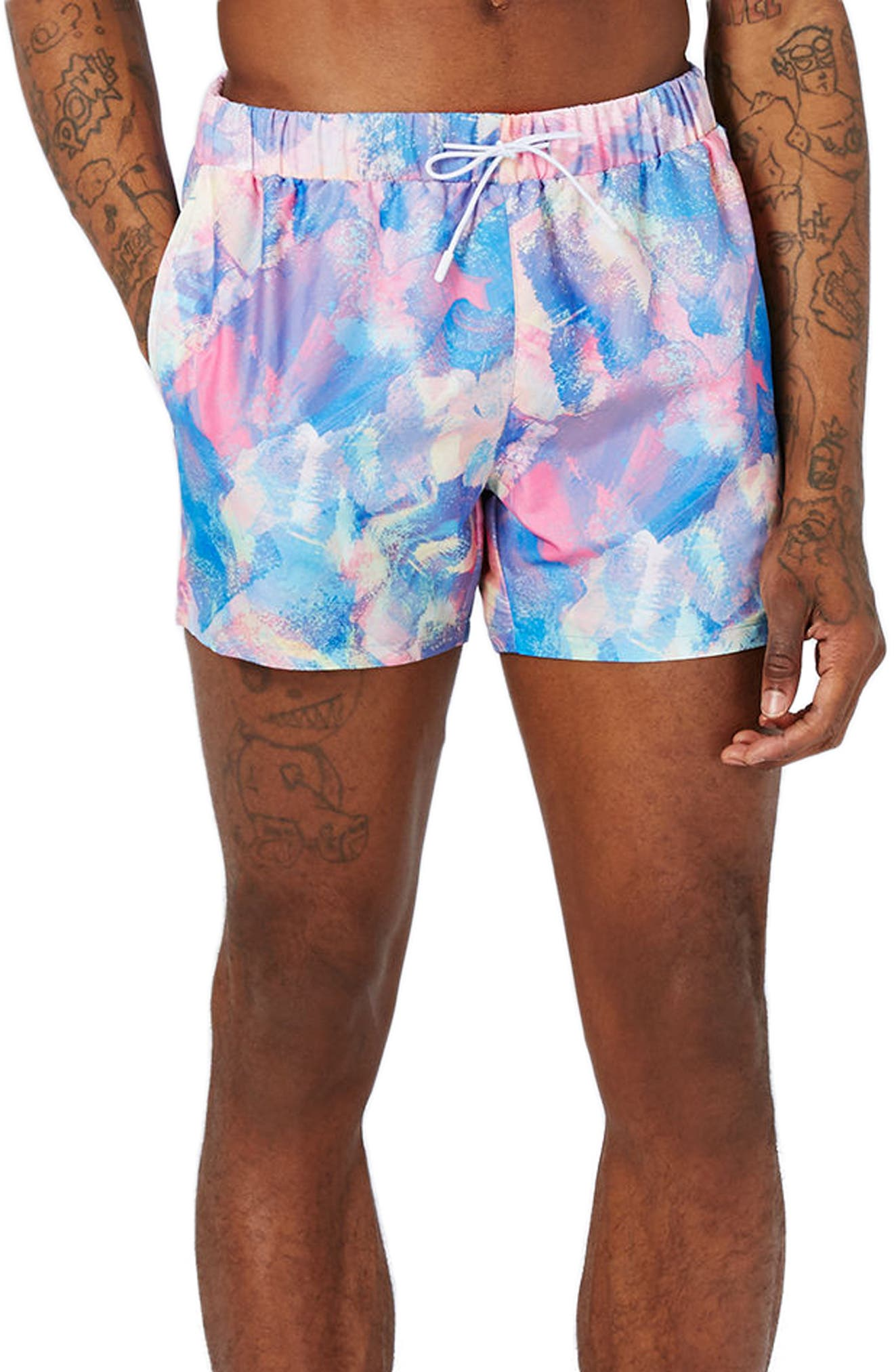 Topman Pastel Swim Trunks