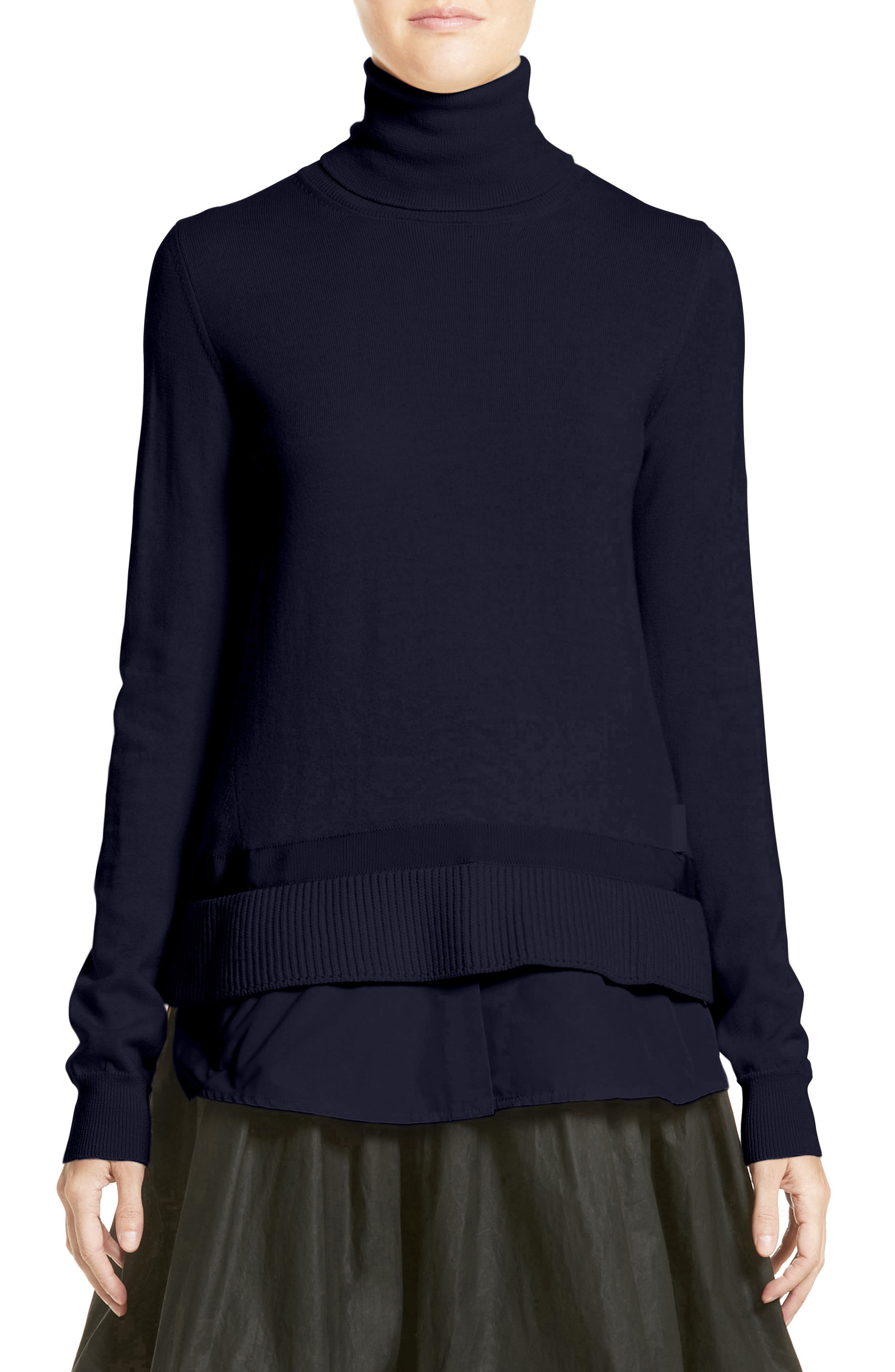 Ciclista Tricot Knit Wool Turtleneck Sweater,                         Main,                         color, Navy