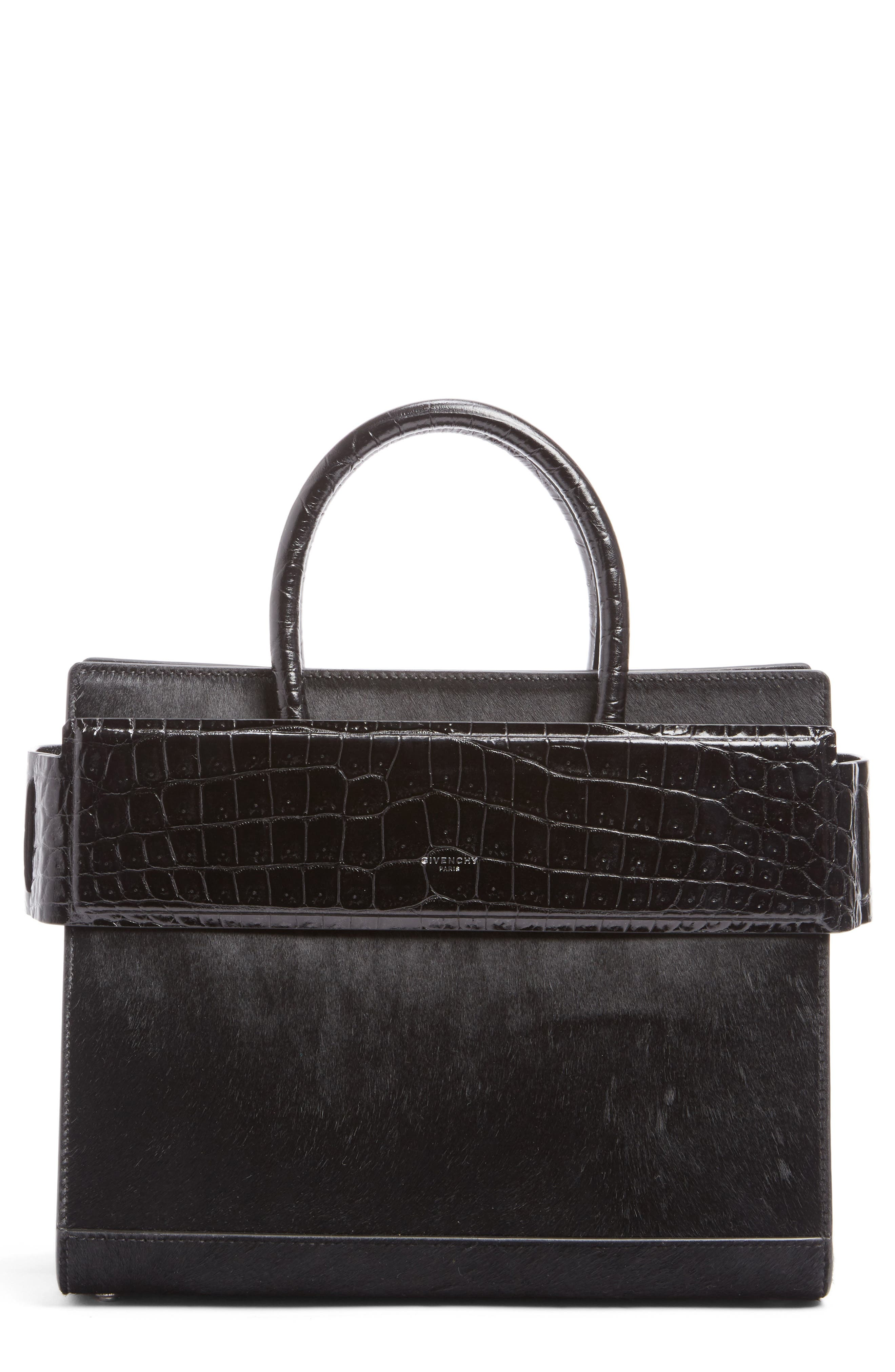 Horizon Genuine Calf Hair & Leather Tote,                         Main,                         color, Black