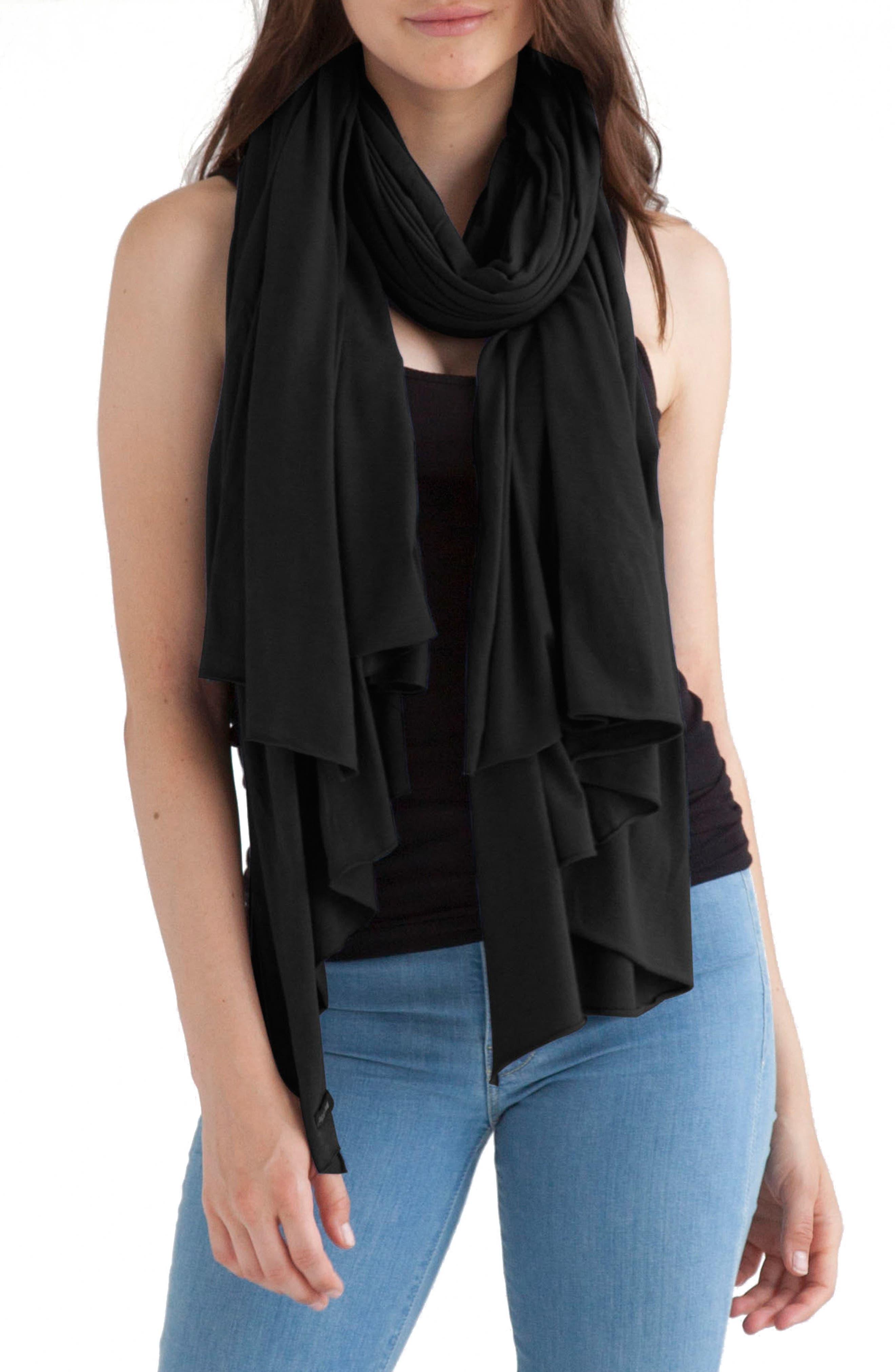 Zingo Scarf,                         Main,                         color, Black
