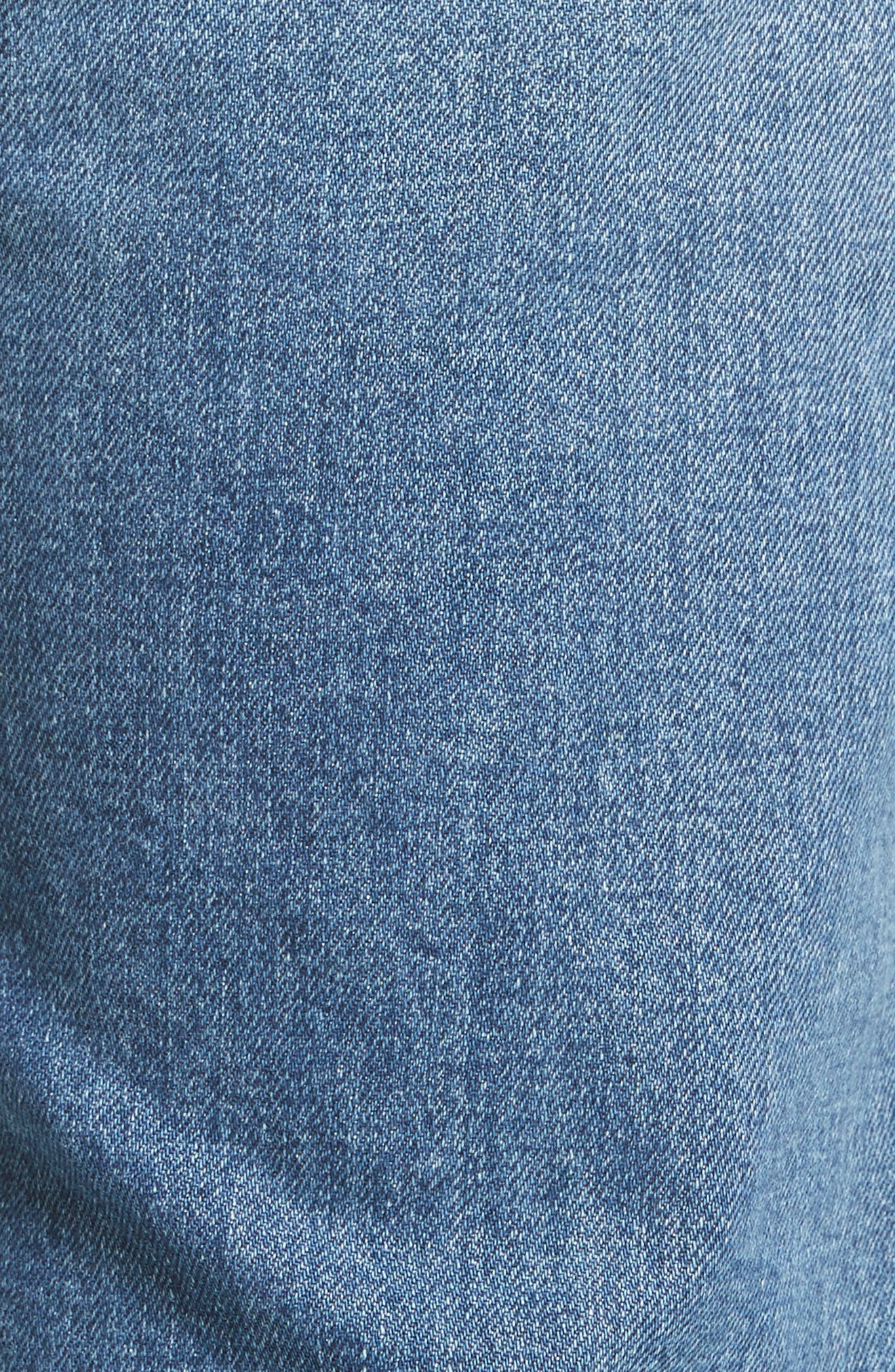 North Skinny Jeans,                             Alternate thumbnail 5, color,                             Mid Blue
