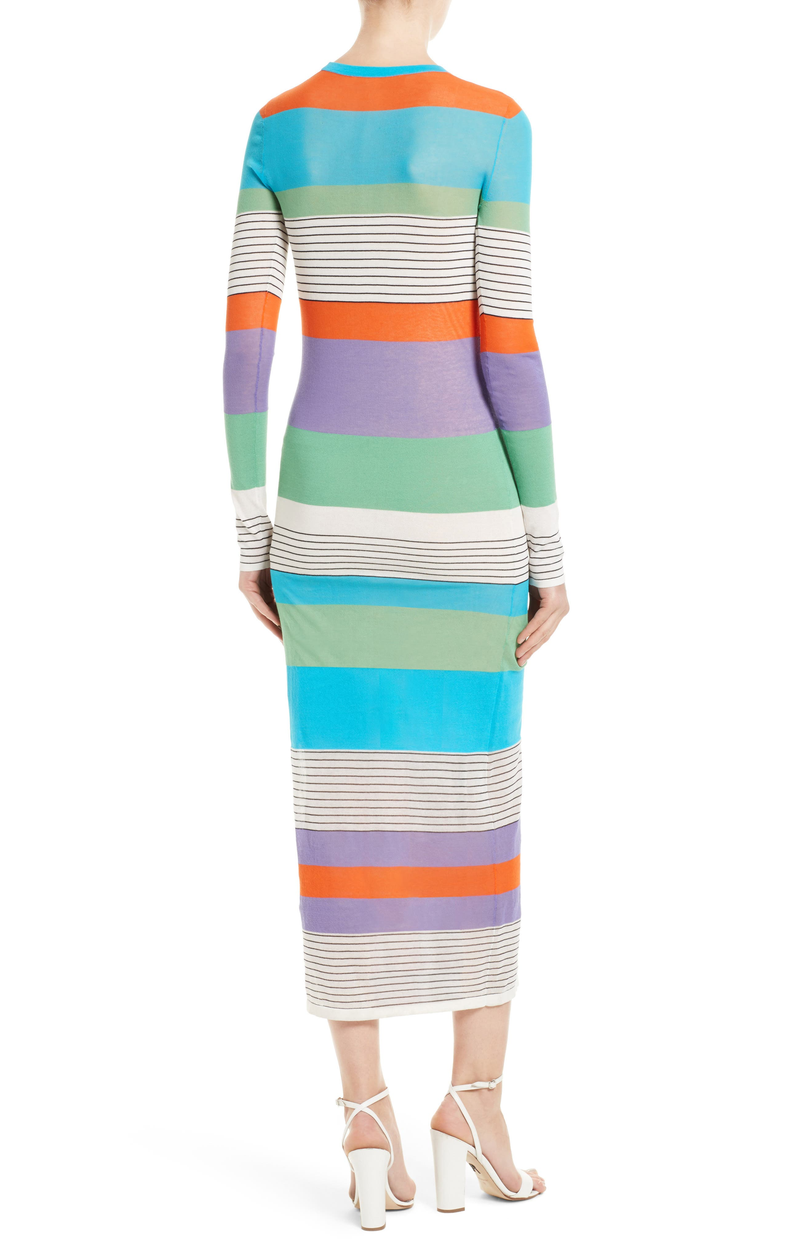 Alternate Image 2  - Diane von Furstenberg Colorblock Knit Midi Dress