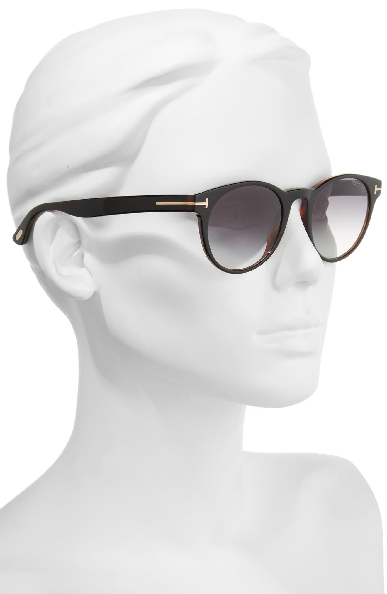 Palmer 51mm Gradient Lens Sunglasses,                             Alternate thumbnail 2, color,                             Black/ Gradient Smoke