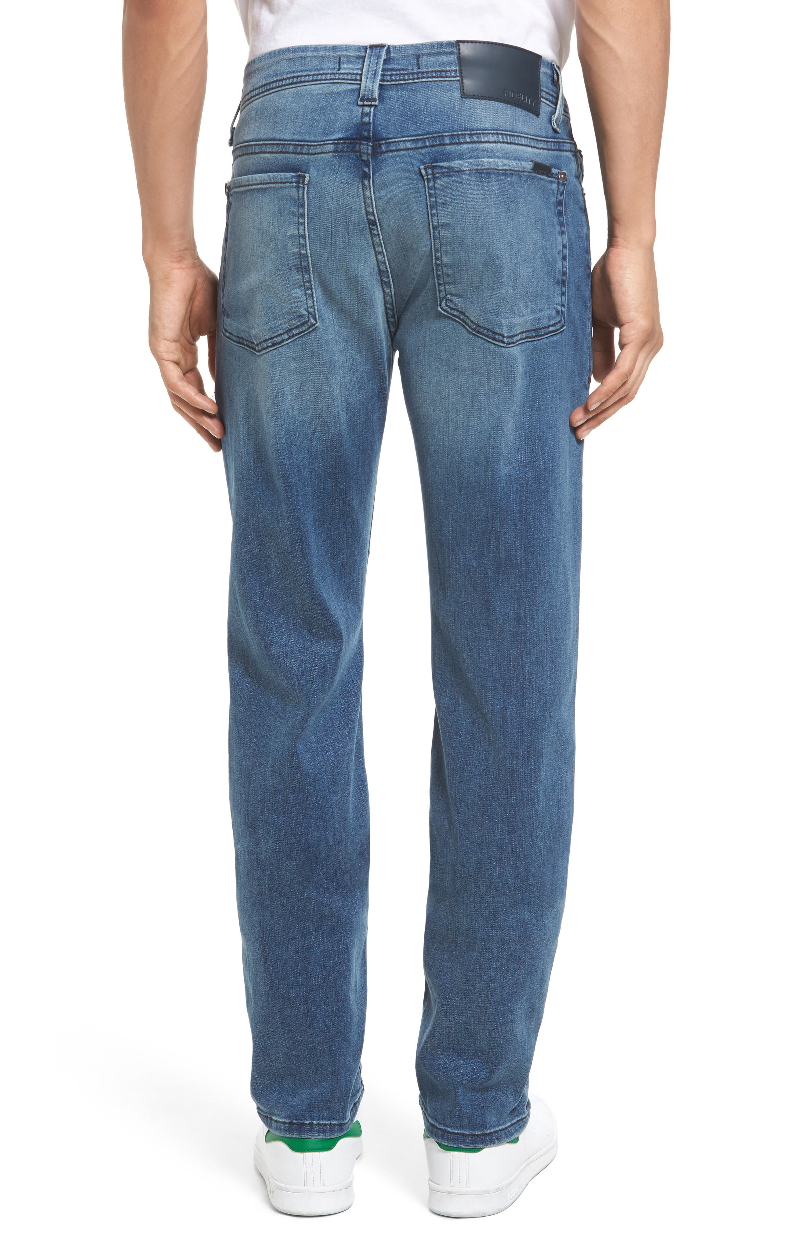 Jimmy Slim Straight Leg Jeans,                             Alternate thumbnail 2, color,                             Cortana Blue