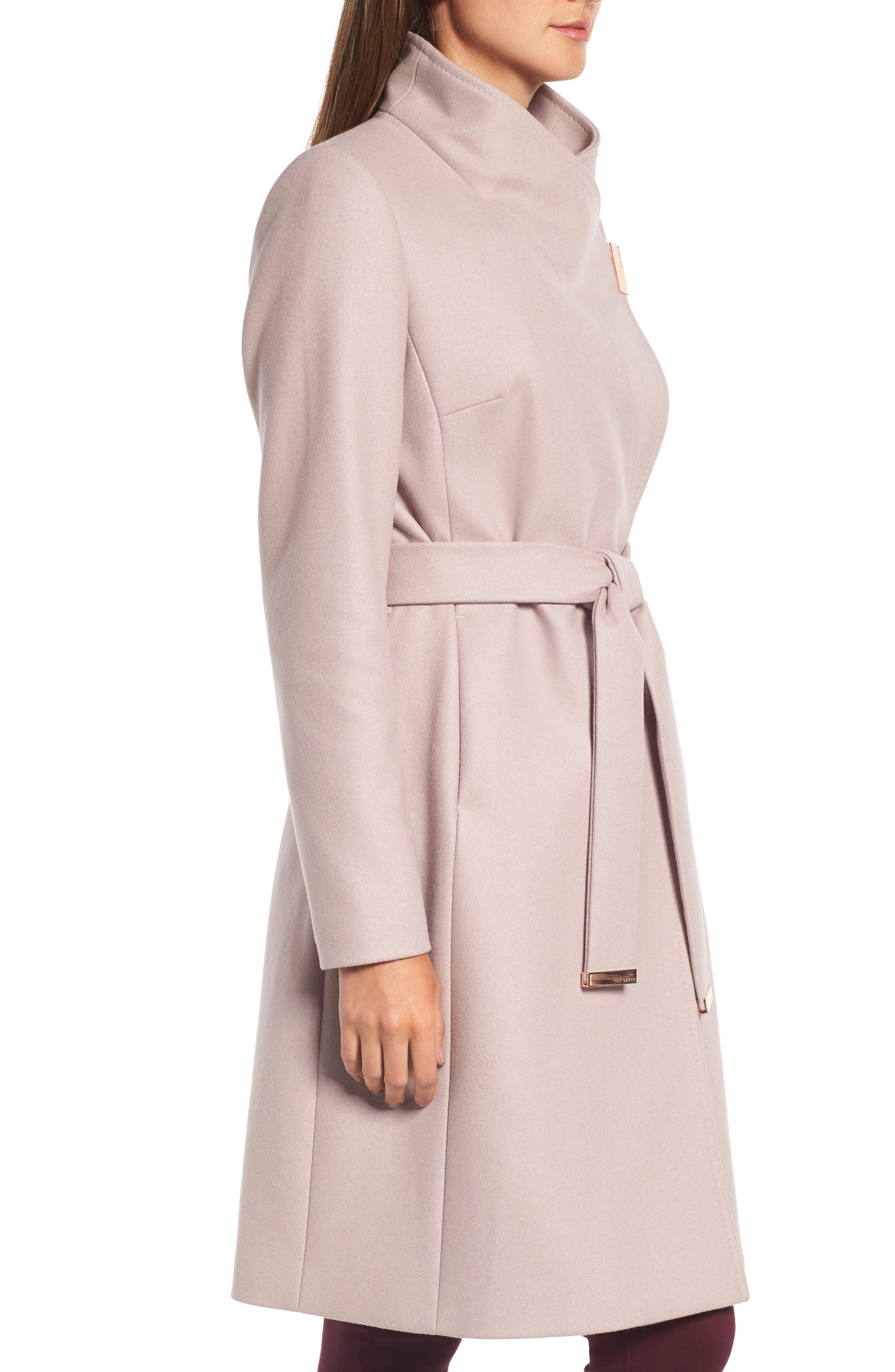 Alternate Image 3  - Ted Baker London Wool Blend Long Wrap Coat