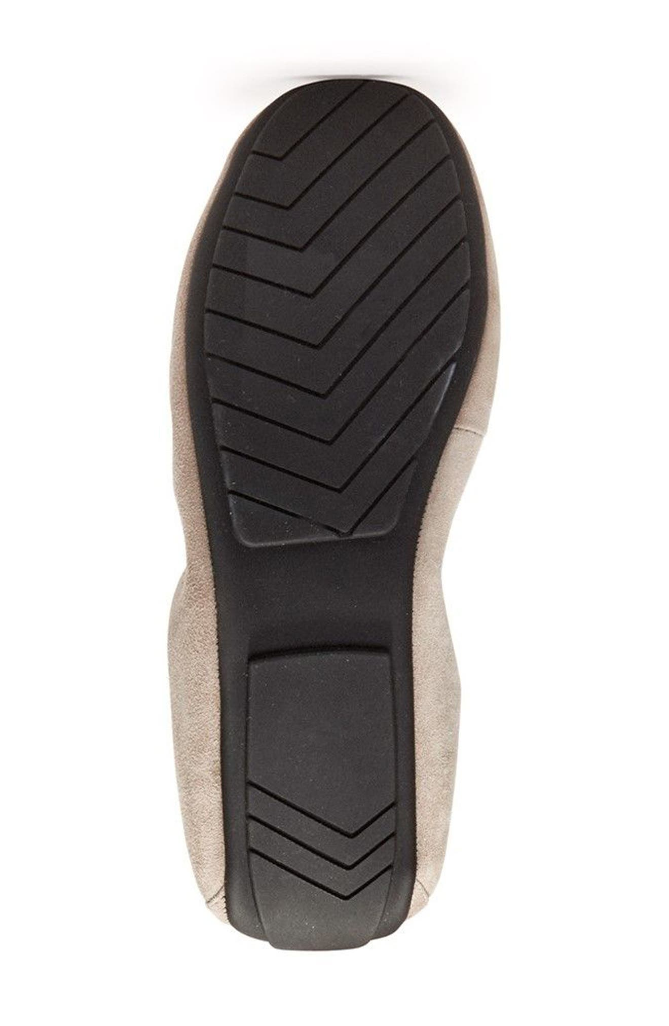 'Icon' Flat,                             Alternate thumbnail 5, color,                             Light Grey Suede