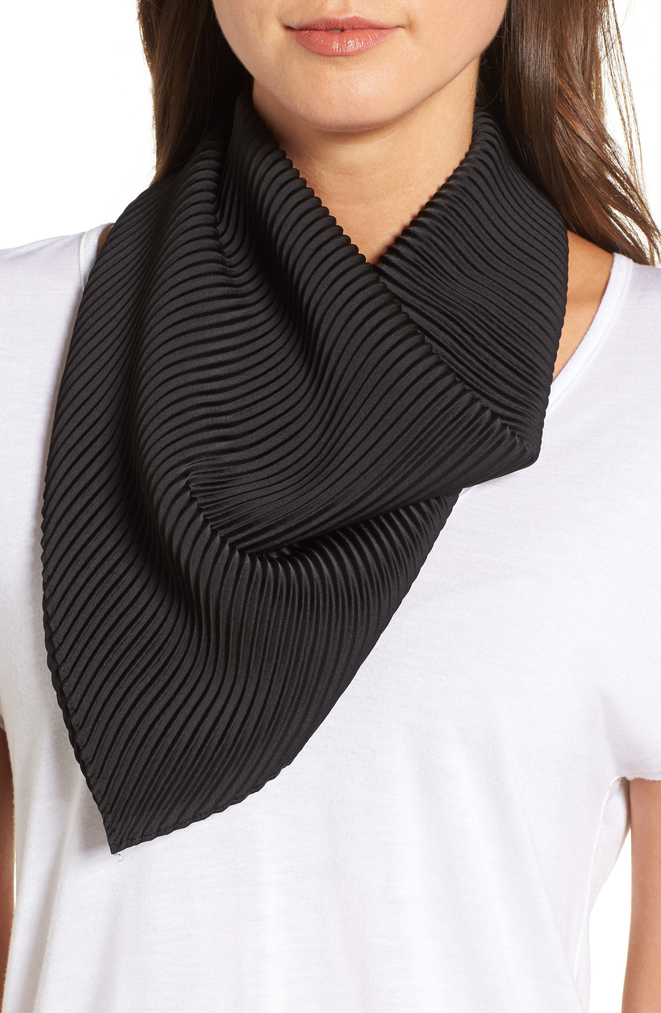 Halogen® Solid Pleated Scarf