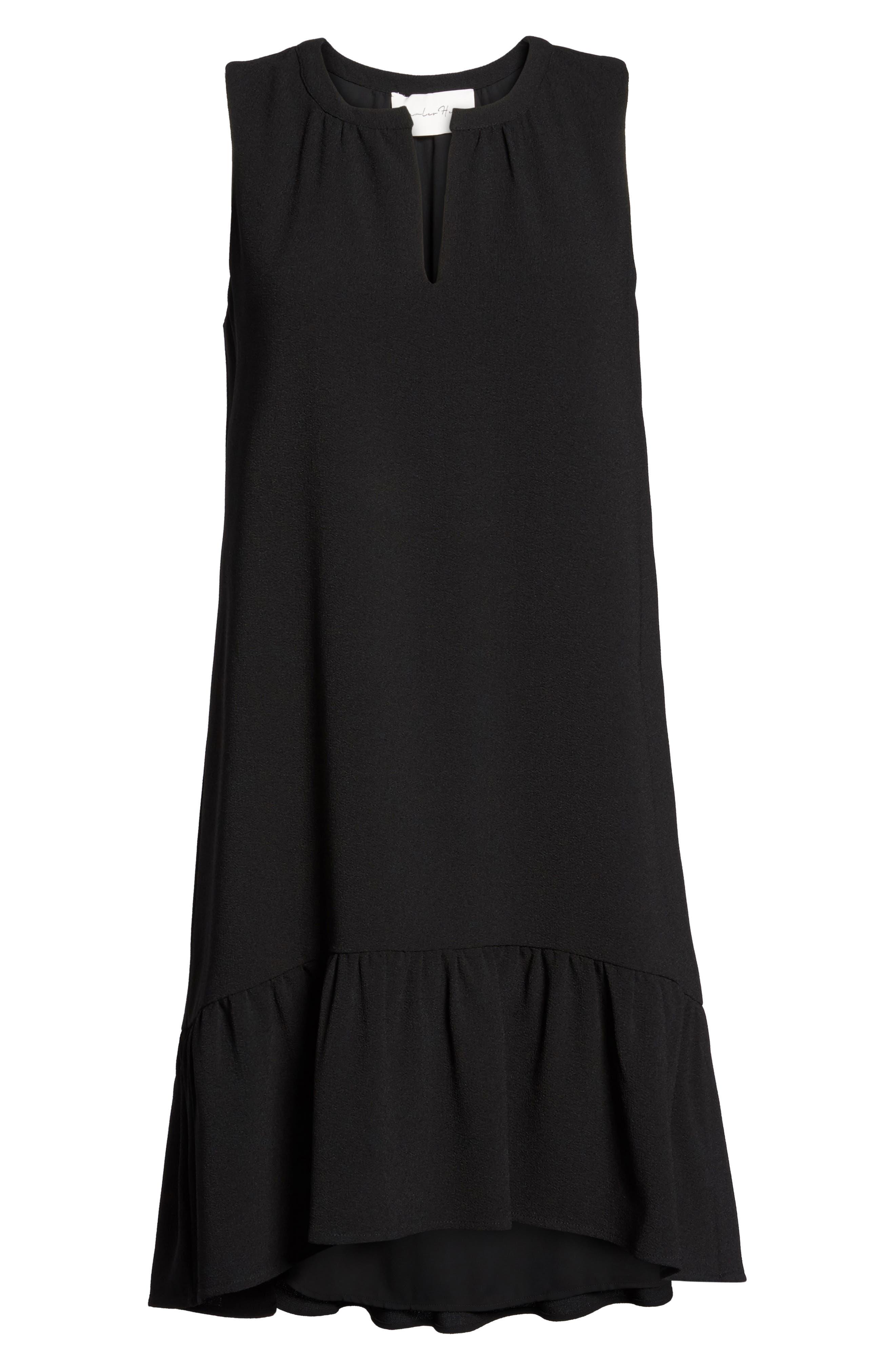 Alternate Image 7  - Charles Henry High/Low Ruffle Shift Dress (Regular & Petite)