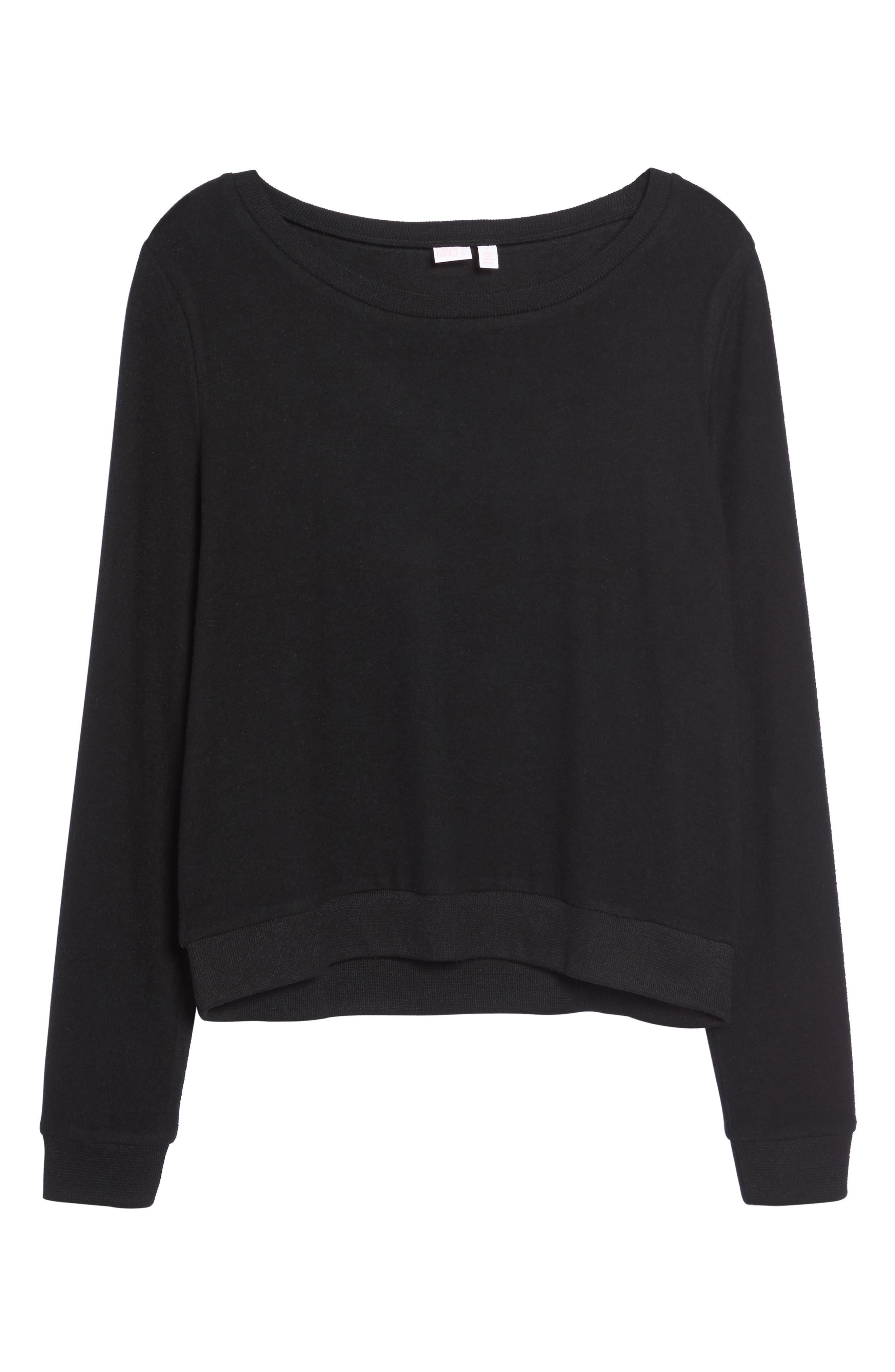 Alternate Image 4  - Make + Model Brushed Hacci Sweatshirt
