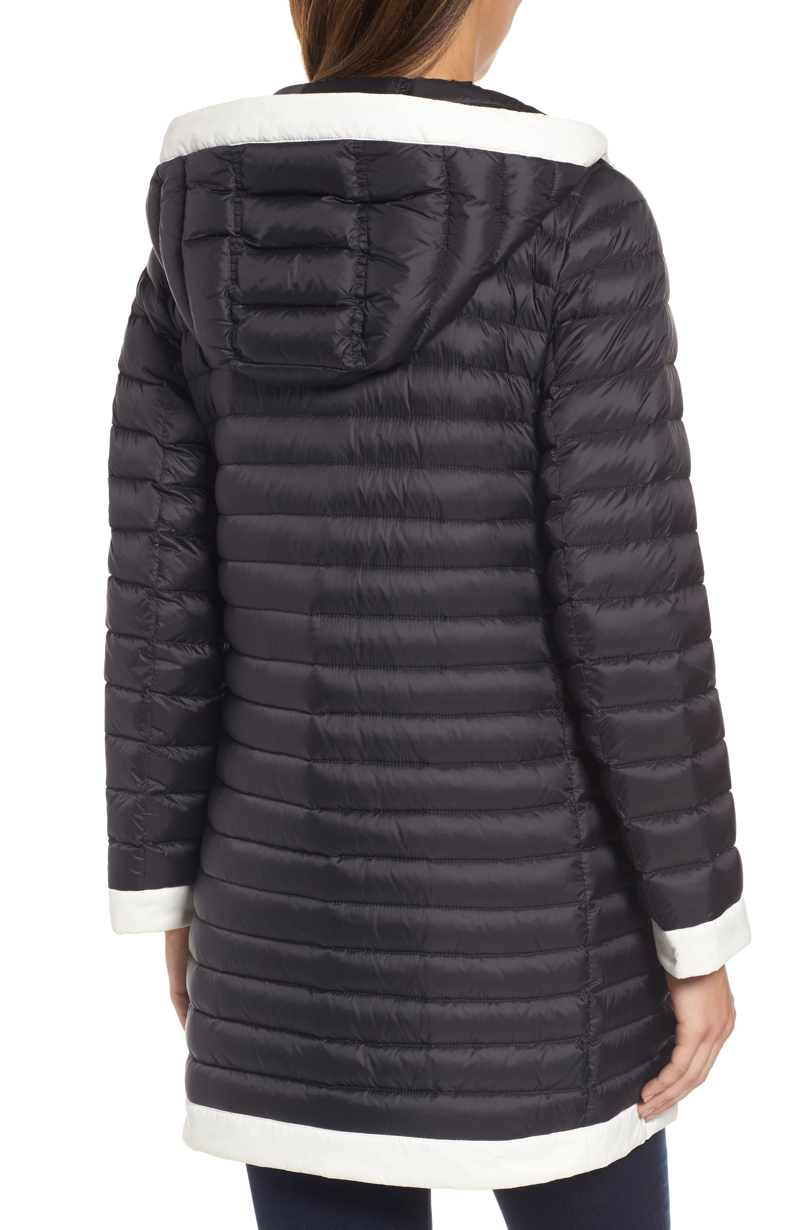 Alternate Image 2  - kate spade new york contrast trim hooded puffer coat