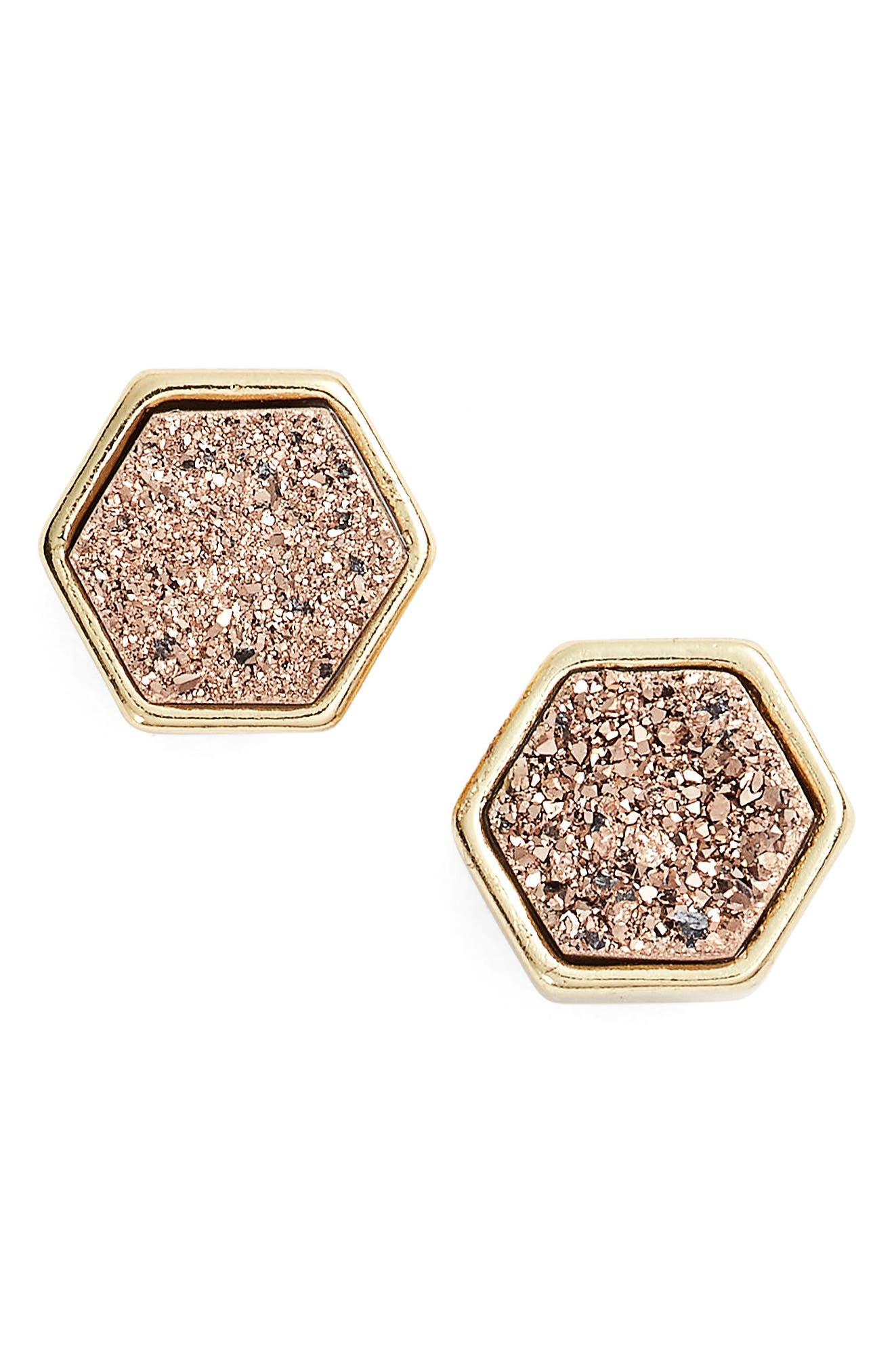 Elise M. Tempeste Hex Stud Earrings