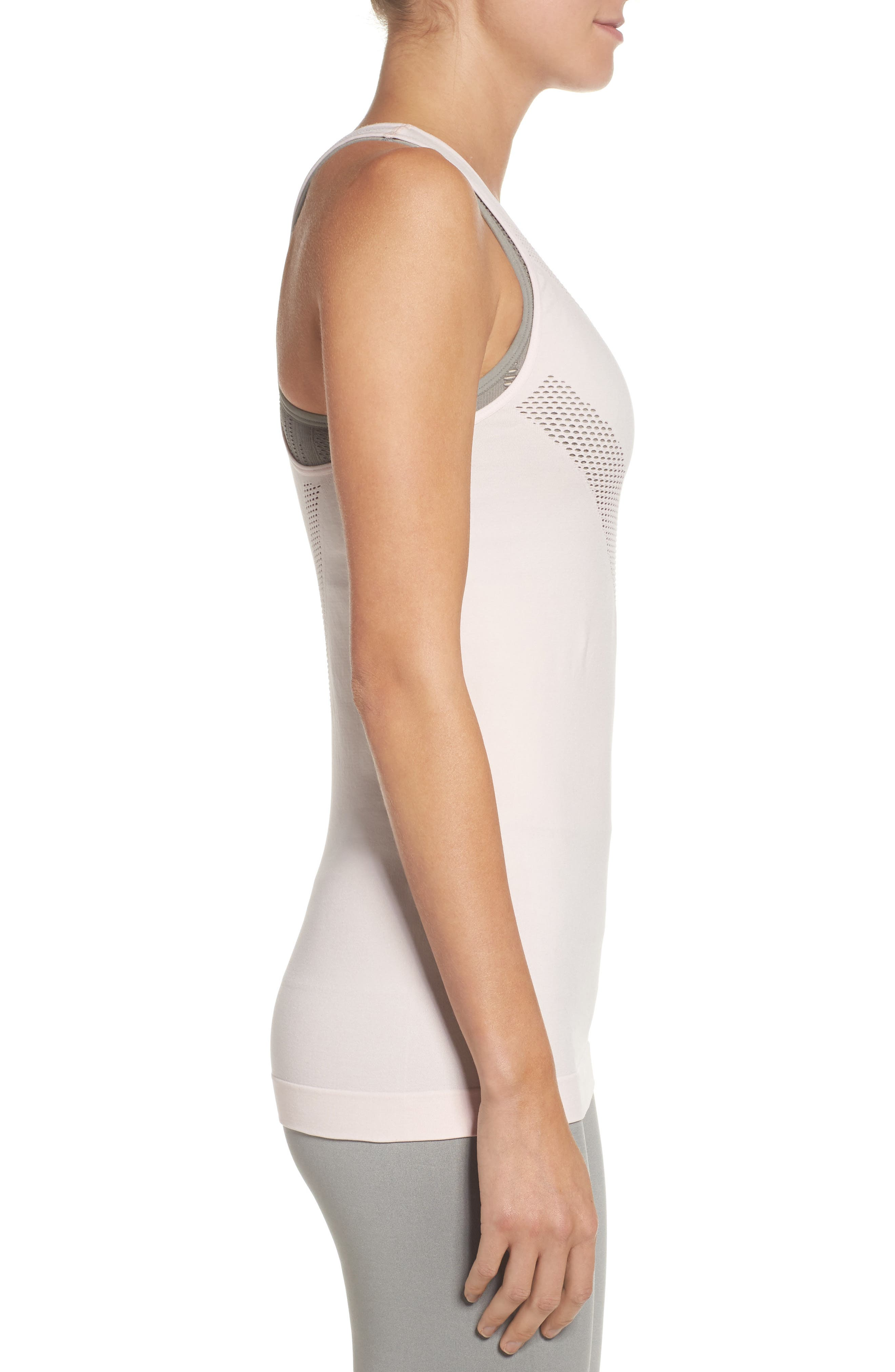 Perf Perfection Singlet,                             Alternate thumbnail 3, color,                             Crystal Pink