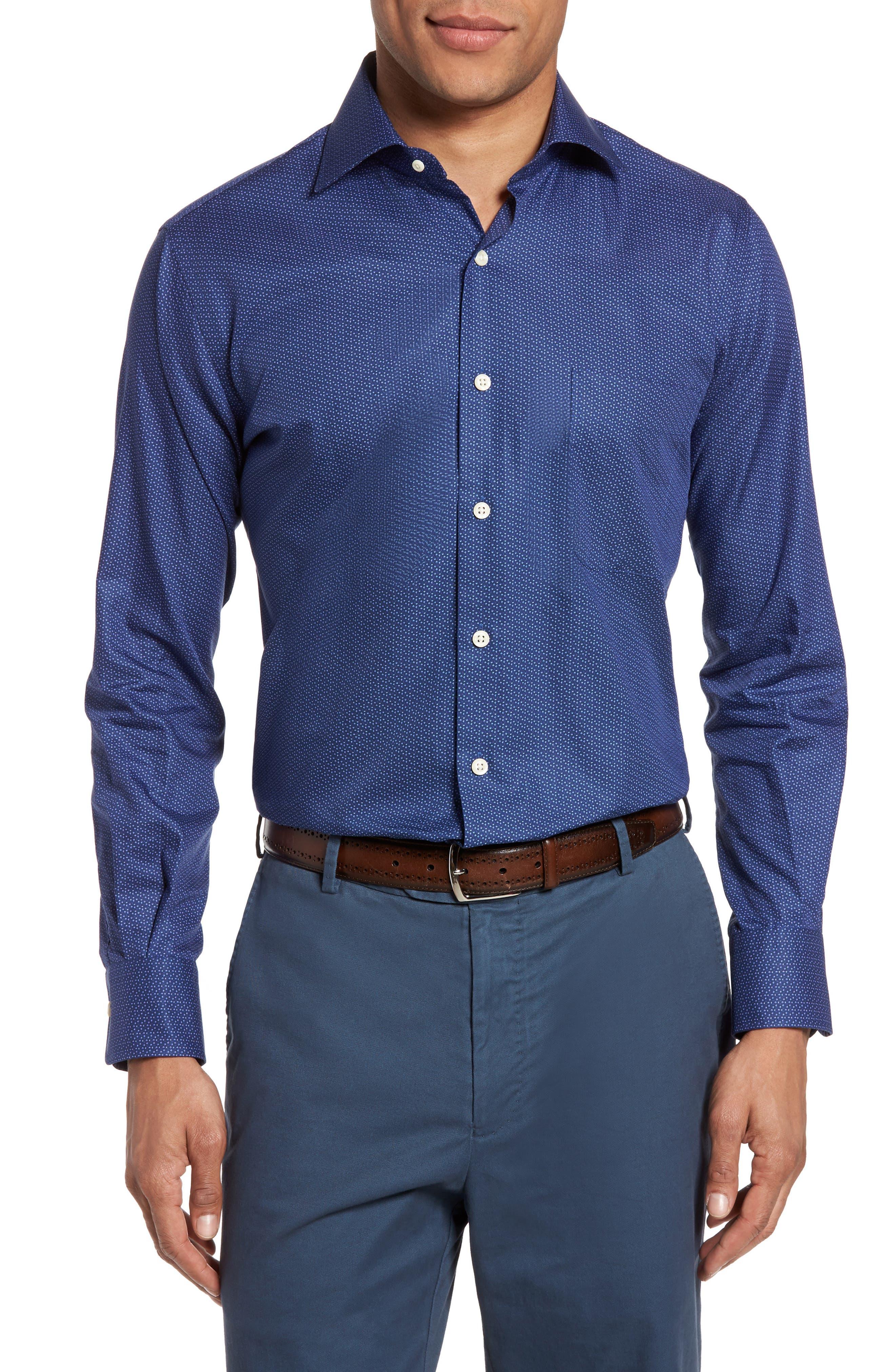 Peter Millar Regular Fit Nightfall Print Sport Shirt