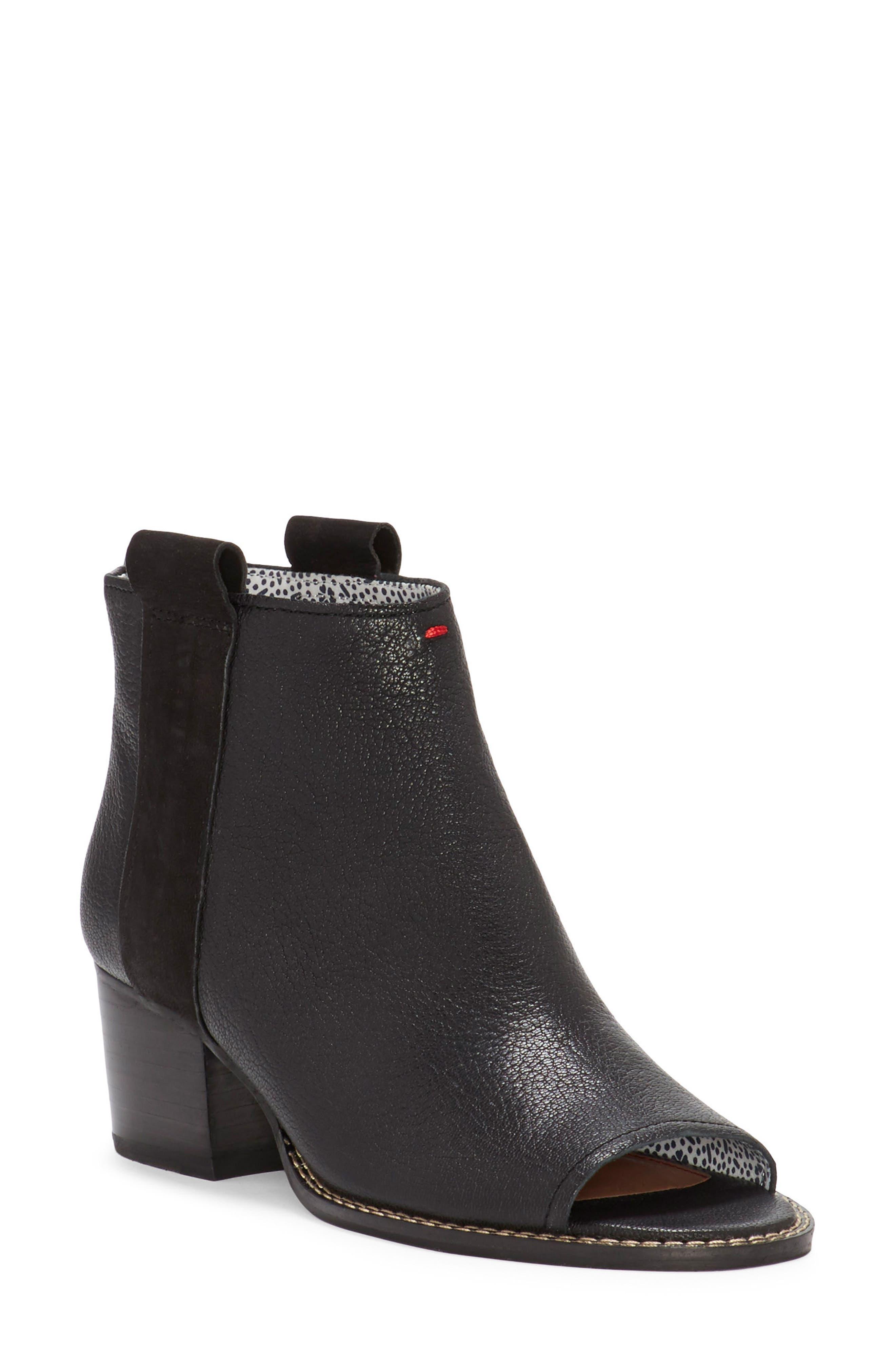 Taromi Peep Toe Bootie,                         Main,                         color, Black Leather