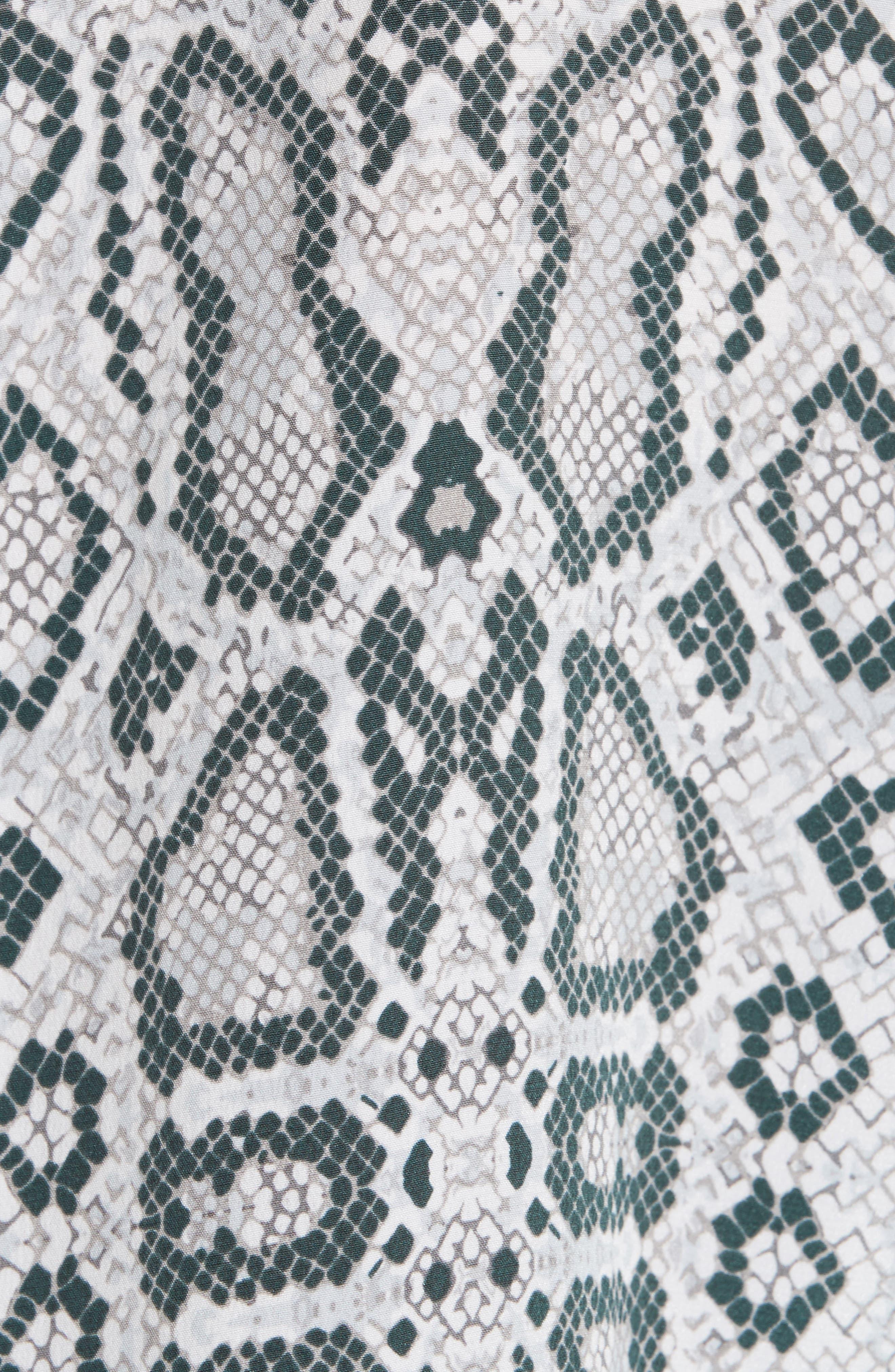 Essential Python Print Silk Shirt,                             Alternate thumbnail 5, color,                             Mineral Grey Multi