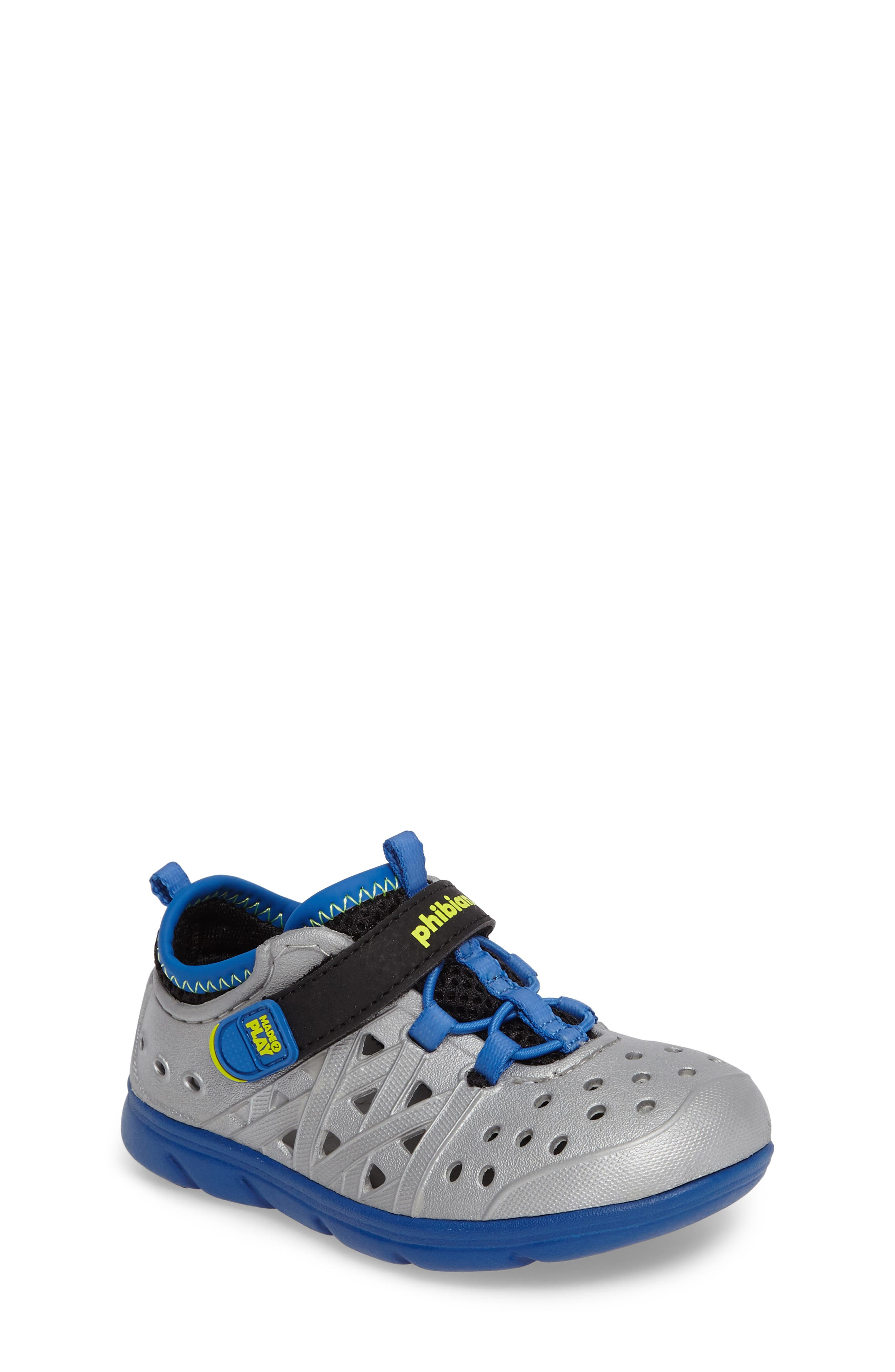 Made2Play<sup>®</sup> Phibian Sneaker,                         Main,                         color, Silver Metallic