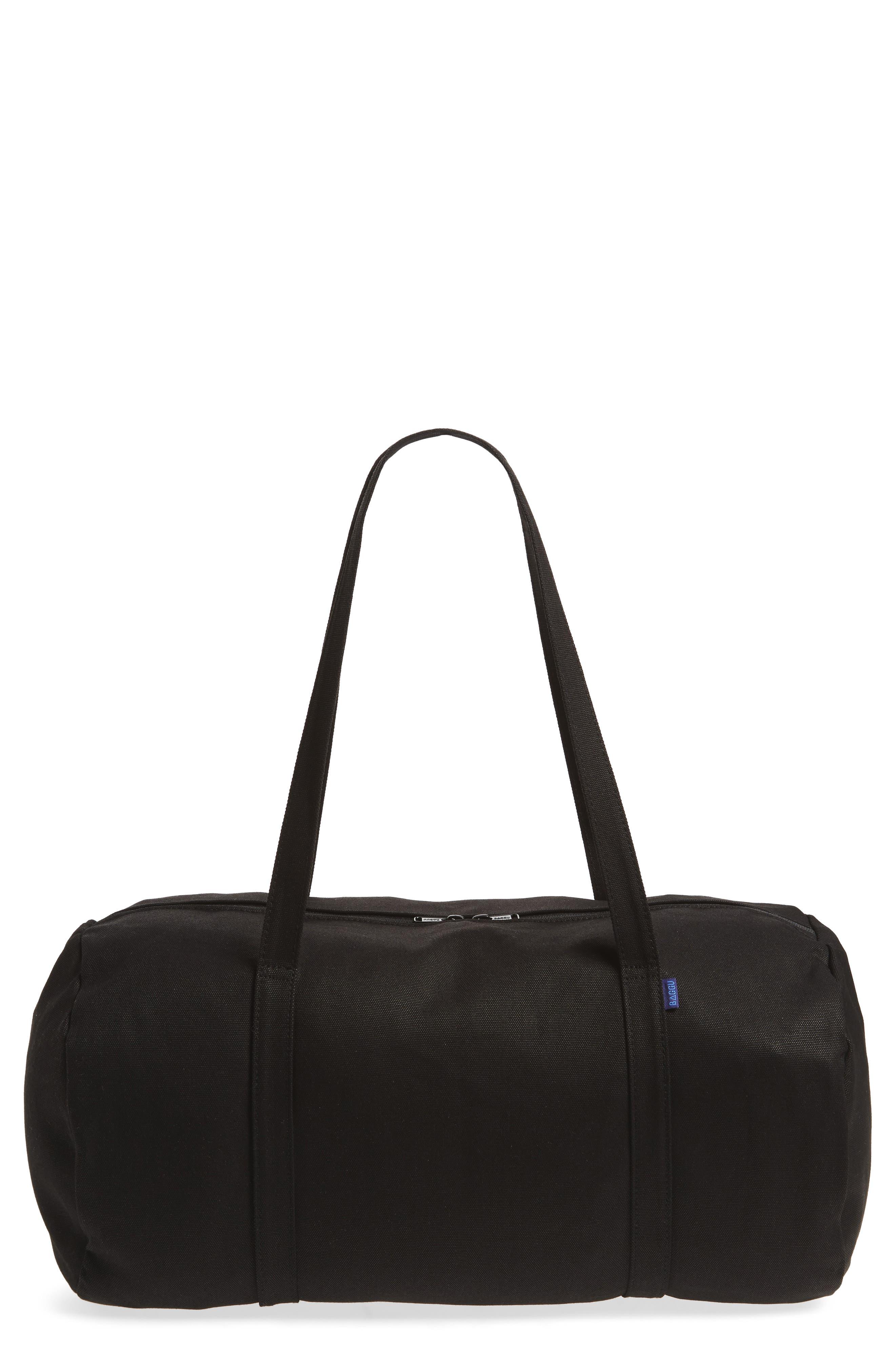 Canvas Duffel Bag,                         Main,                         color, Black