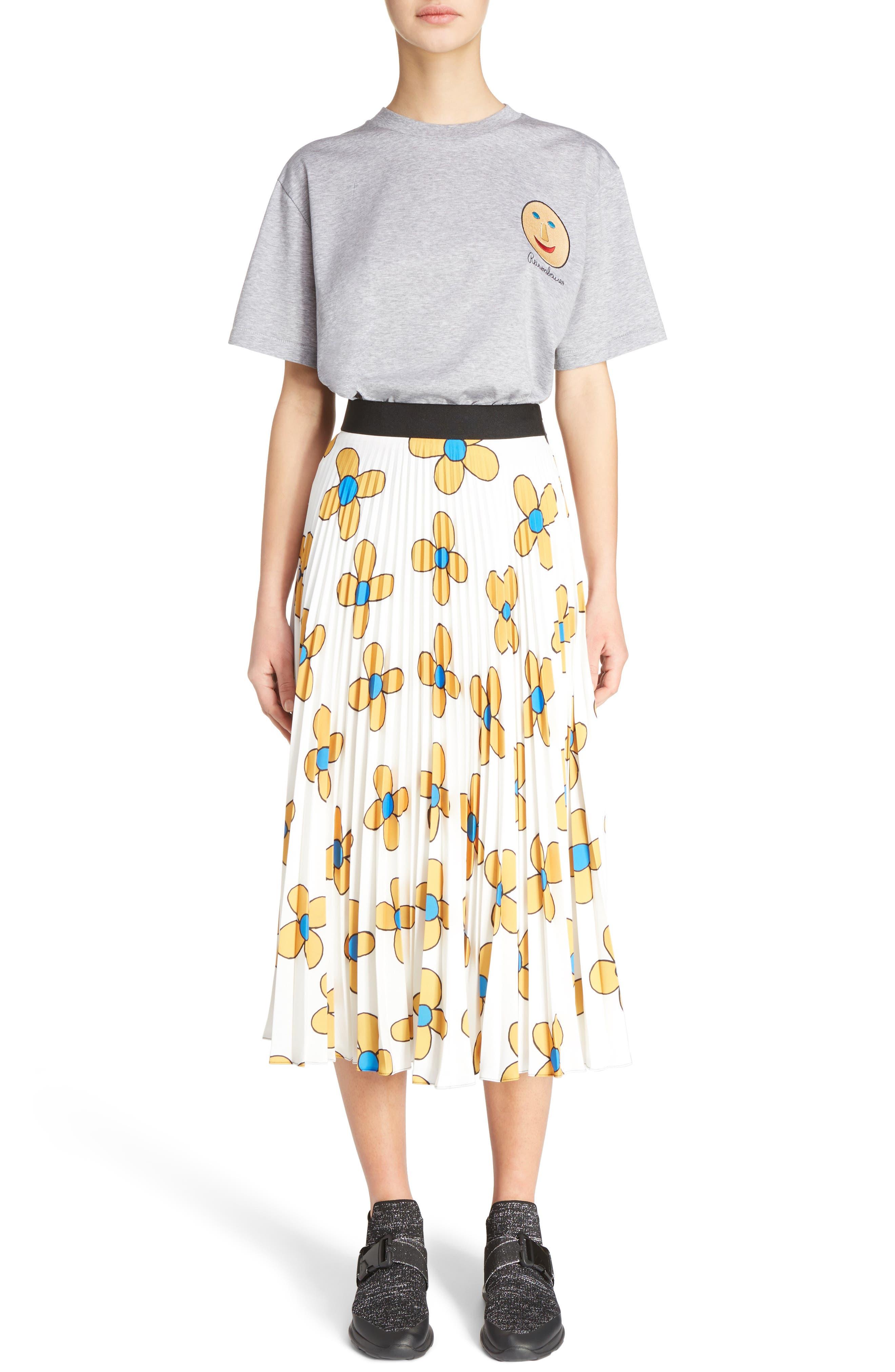 Alternate Image 7  - Christopher Kane Flower Print Midi Skirt